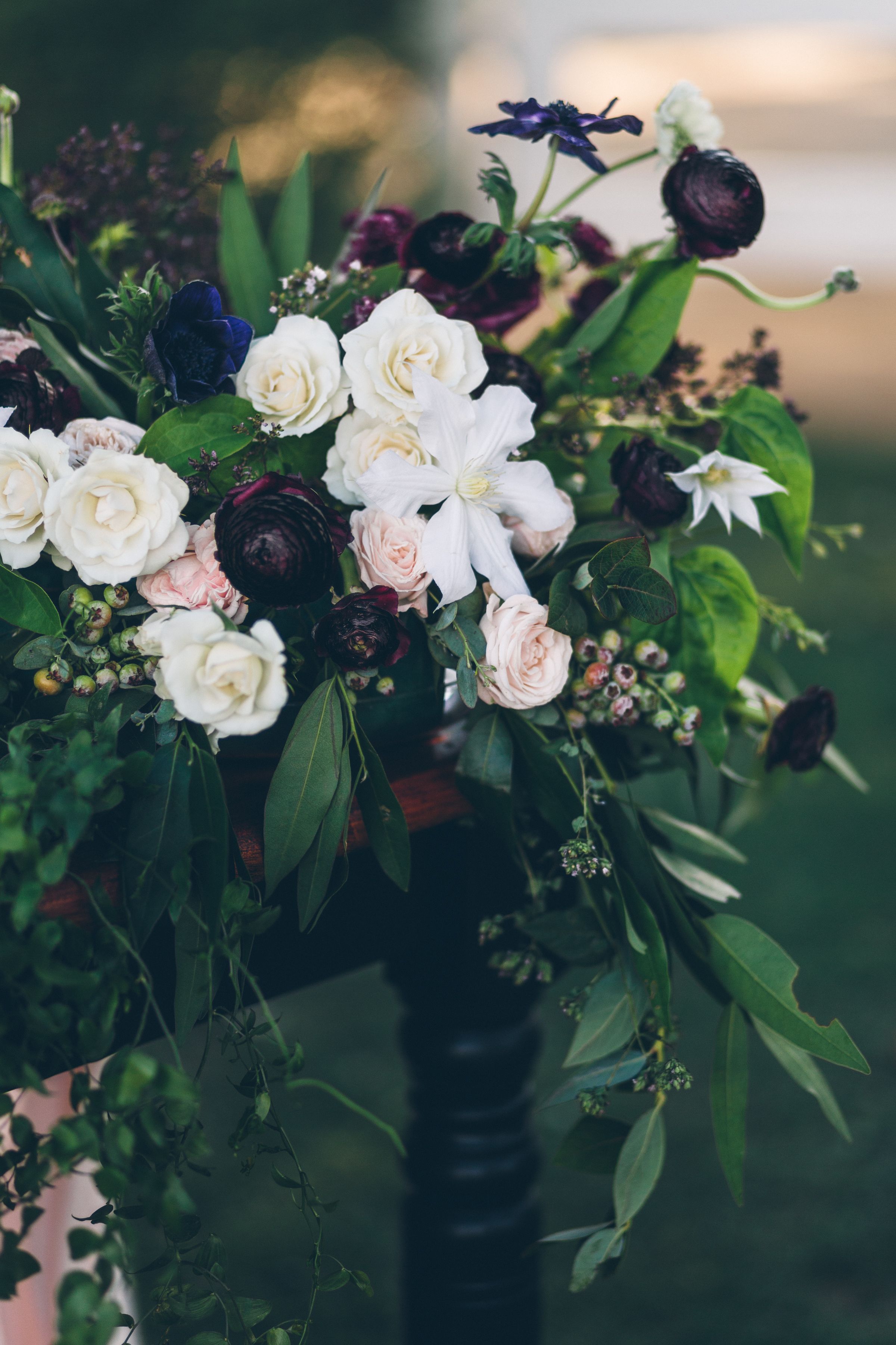 purple rannunculus blush roses and jasmine and white cosmos for an outdoor wedding at brookview ranch .jpg
