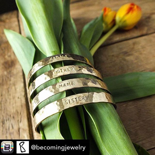 Looking for the PERFECT #mothersday gift? DazzleBar has you covered with our Becoming collection of brass cuffs! Each cuff features a meaningful phrase that makes a sweet sentiment for the mom in your life. #mama #sisters #mother #family #handmade #handmadejewelry #giftsforher #gifts #love #loveit #musthave #dazzle #dazzlebar #favorite #bracelets #jewelry #perfect