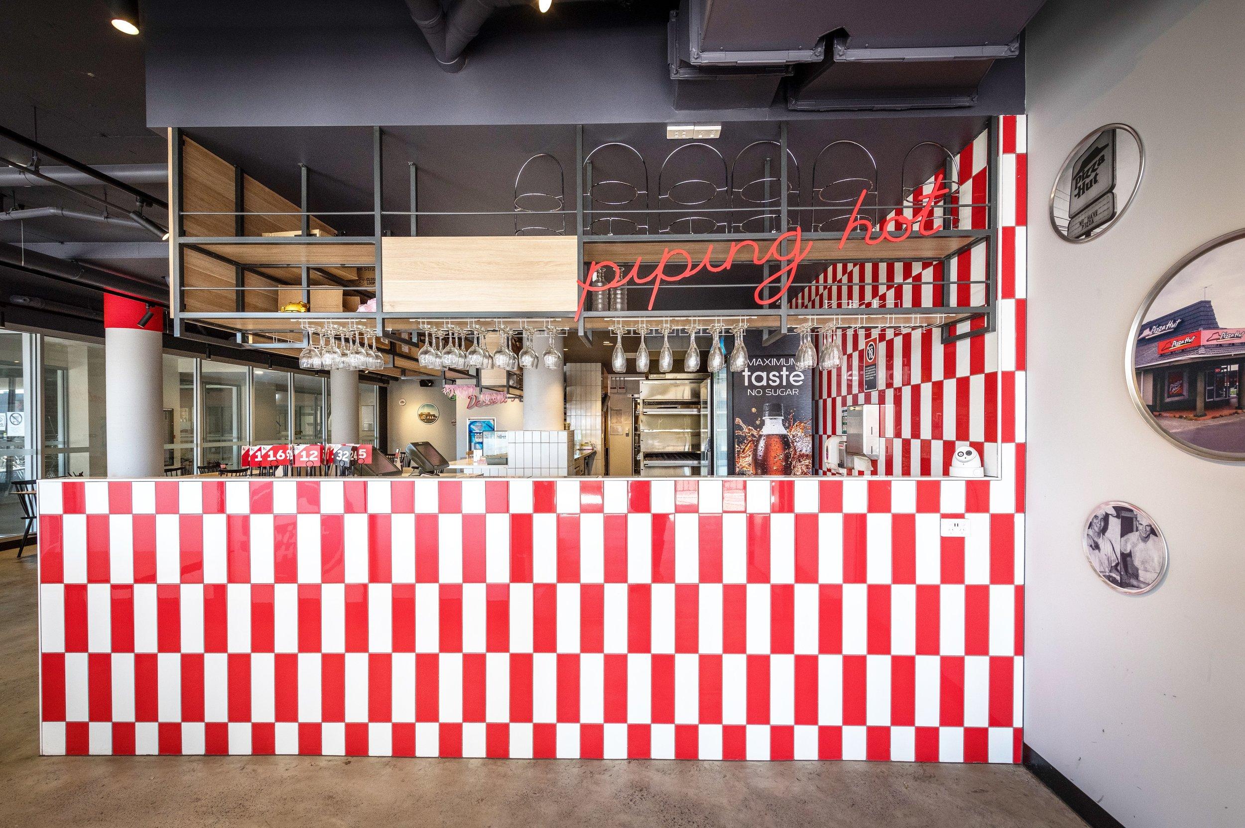 pizza hut merrylands   interior design