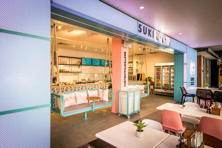 Interior Design, Branding & Custom Artwork for Suki