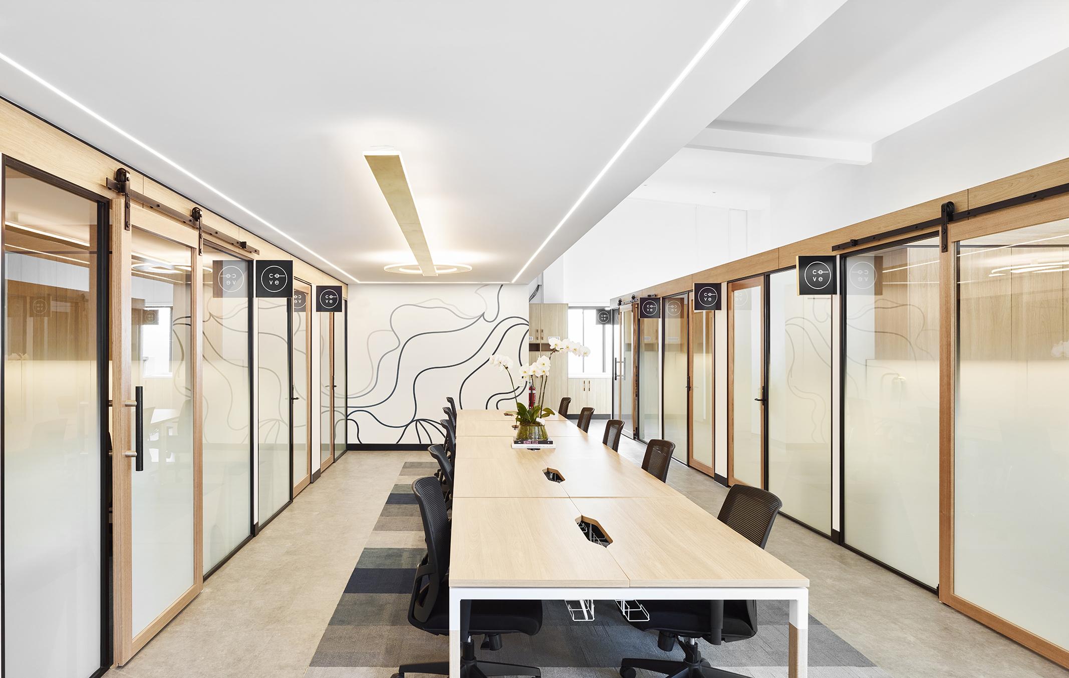Cove Co-Work Boardroom - Collectivus Interior Design
