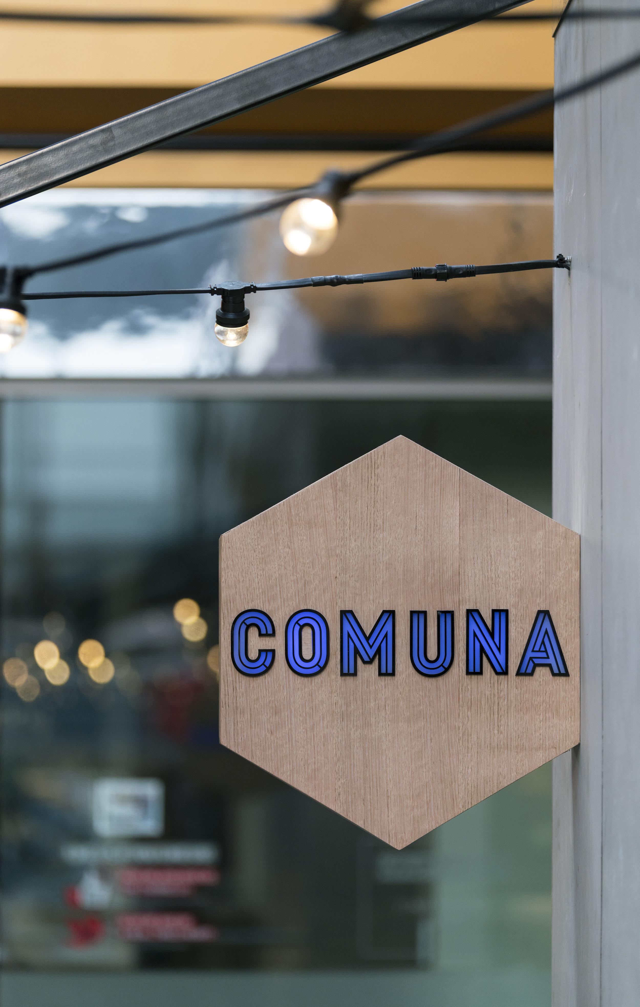 Comuna Cantina Signage - Collectivus Interior Design
