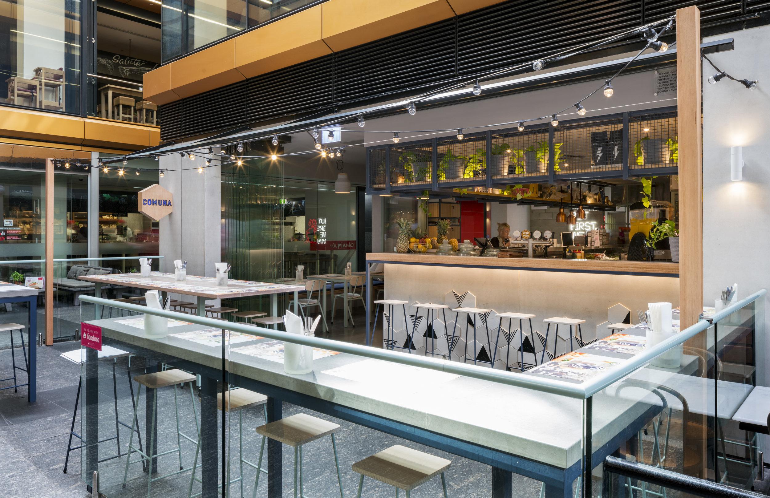 Comuna Cantina Shopfront - Collectivus Interior Design