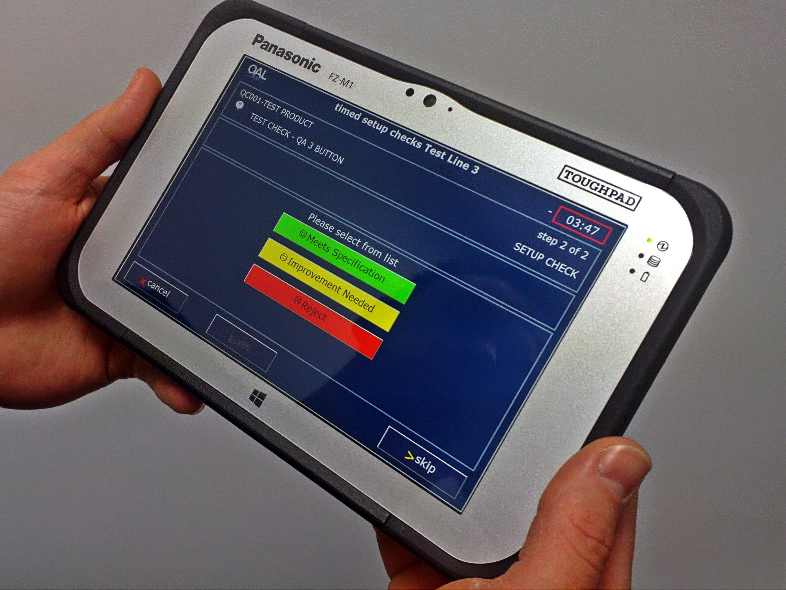 OAL Autocoding Handheld Tablet