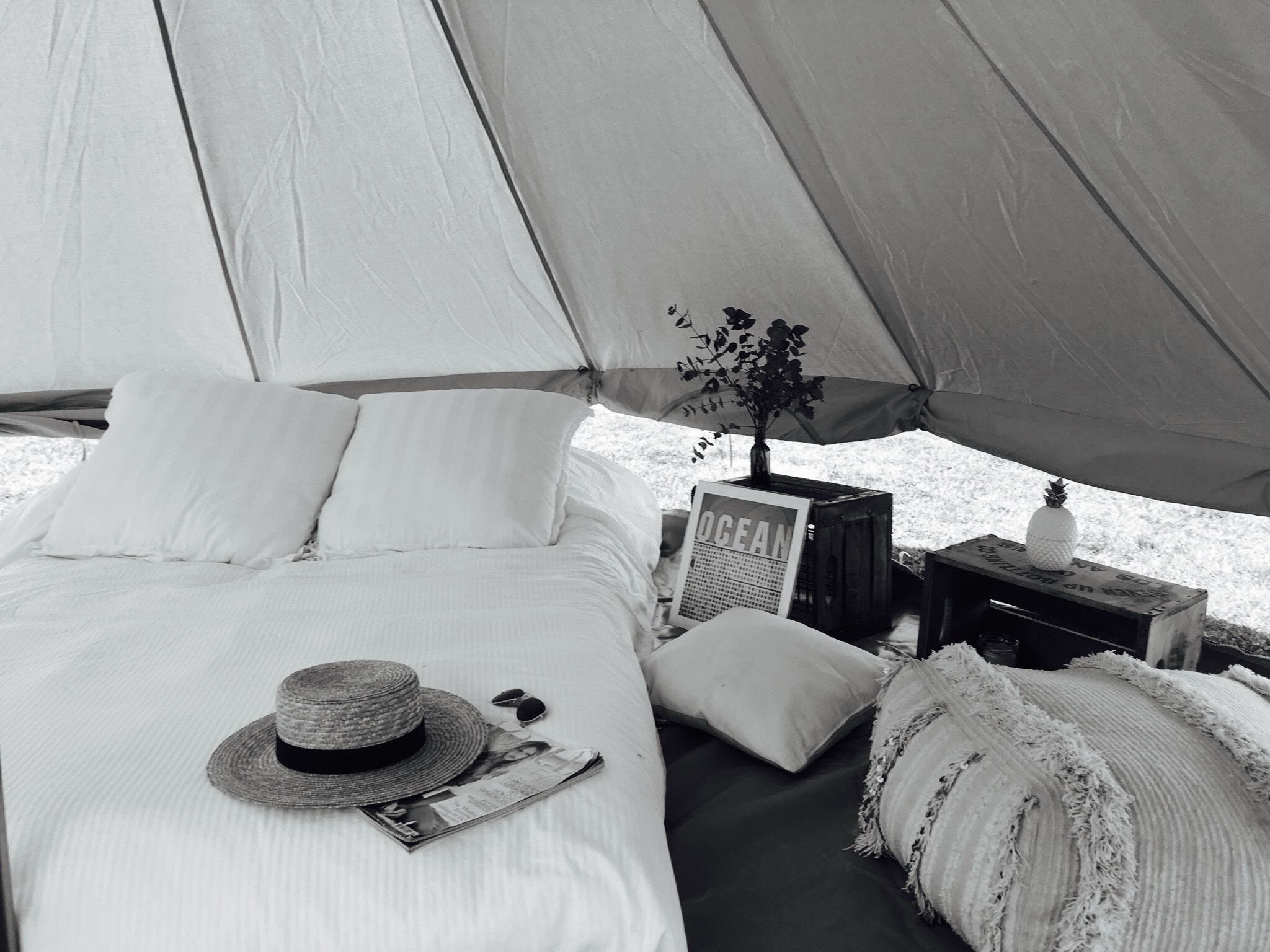 We are for loversof crazy summer adventures, - ...but with the niceties of crisp white sheets and a glass of french red on arrival