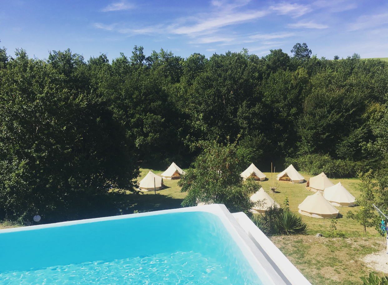 We Travel Across France - ..to bring you a bell tent village where ever your event is being held! All we need is some flat land and access to power for the festoon lights