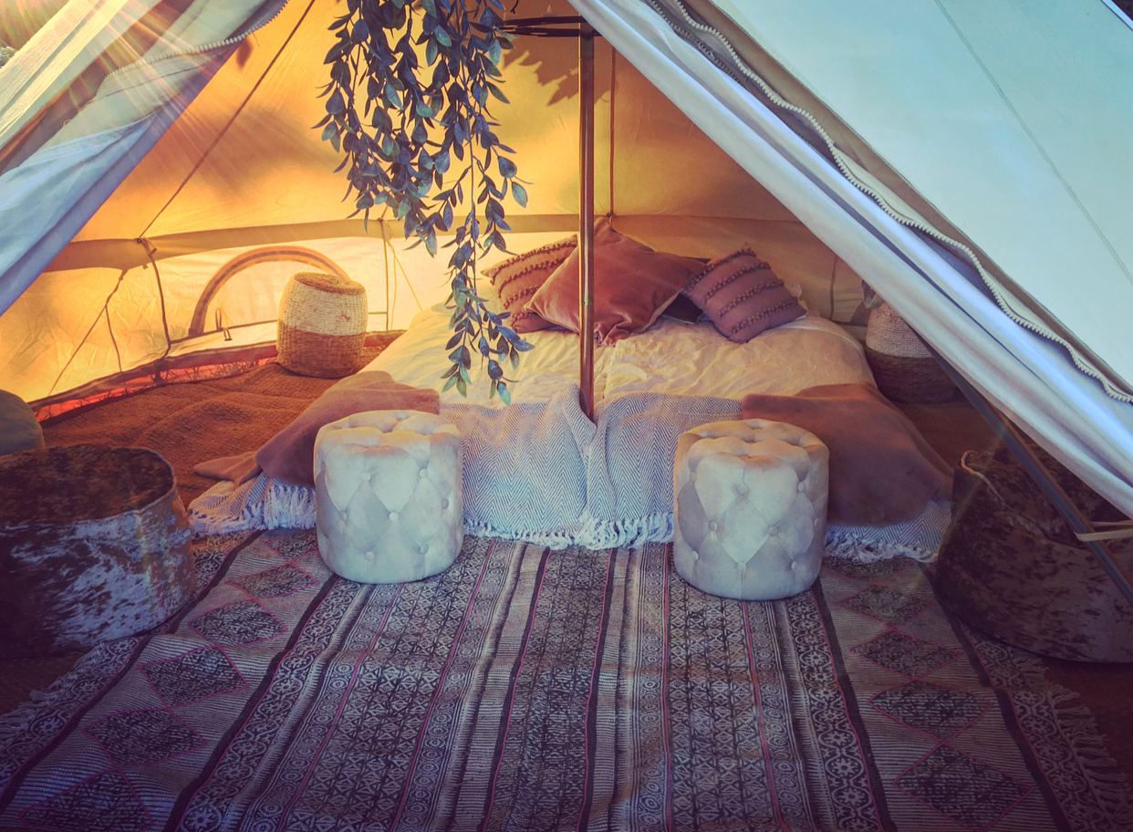 Our belle tents.. - ..are individually styled in a bohemian vibe which can only be described as a fusion of Morocco meeting Tahiti in both desert and coastal tones