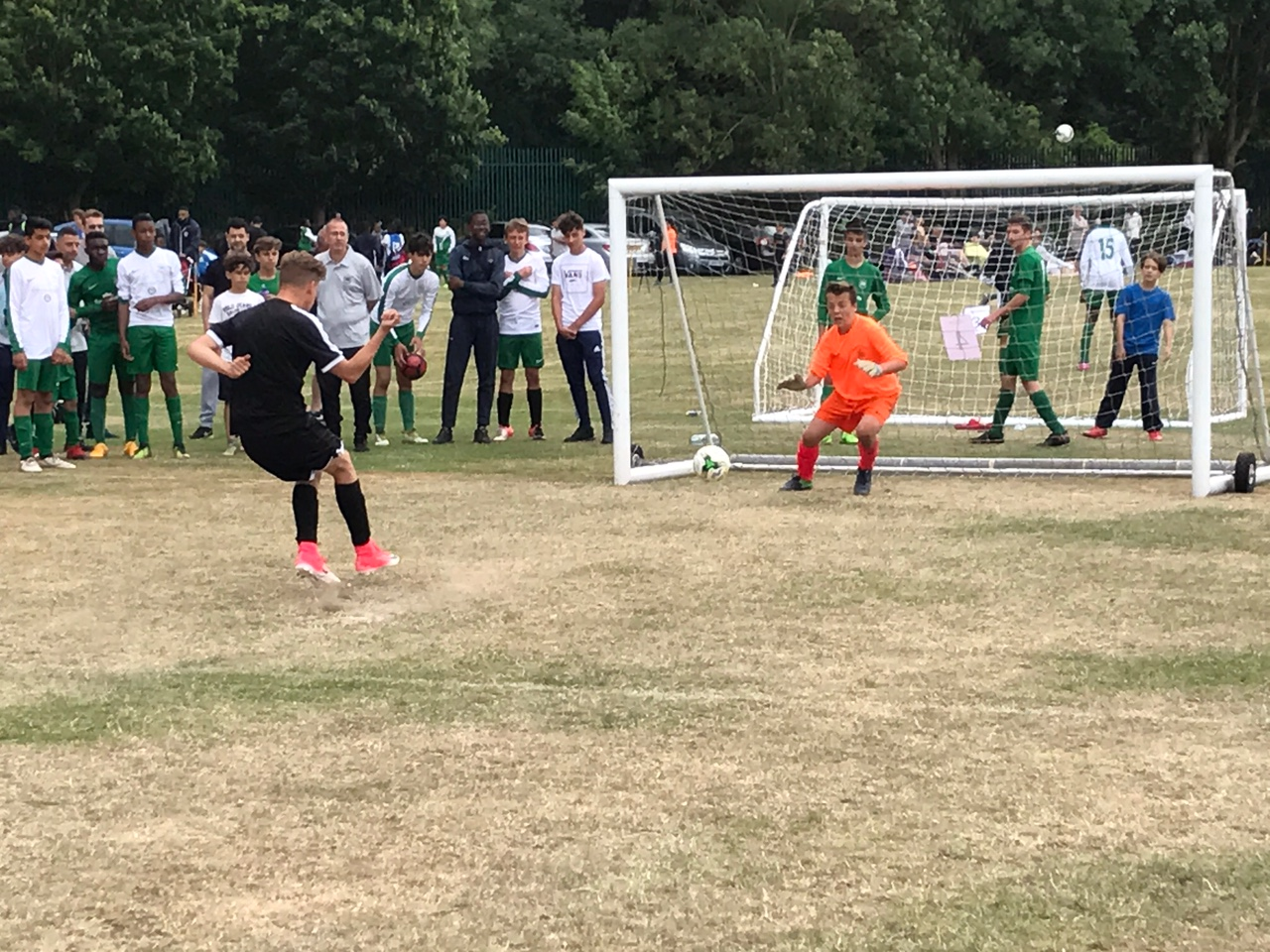 James saving penalty v Dragons FC in the semi-final
