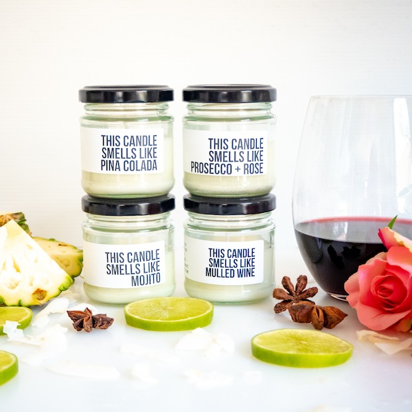 Alcoholic candles
