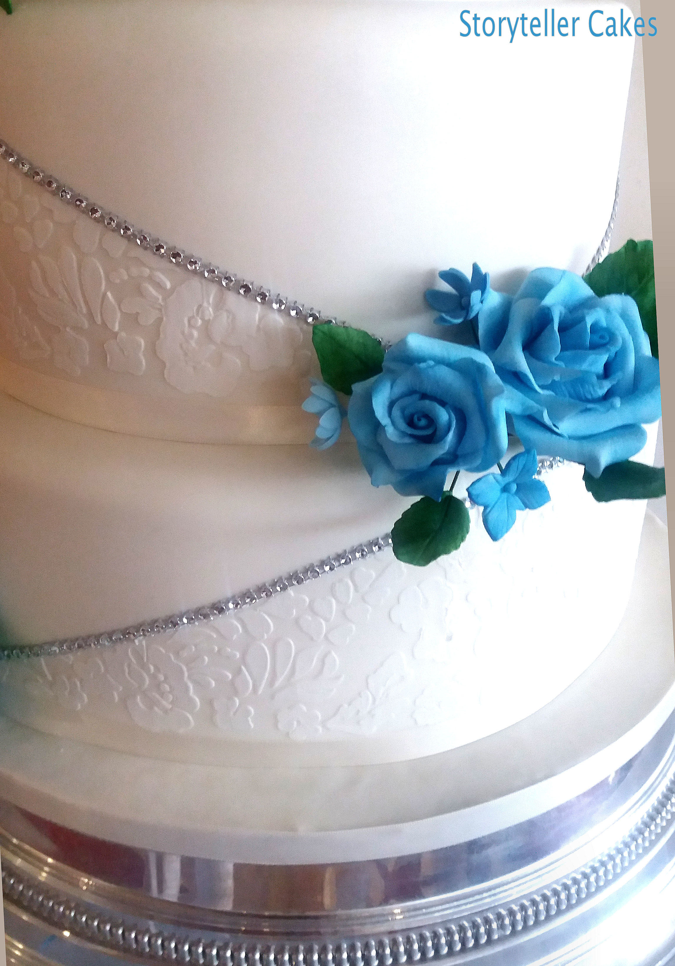 Blue & White Lace Wedding Cake 3.jpg