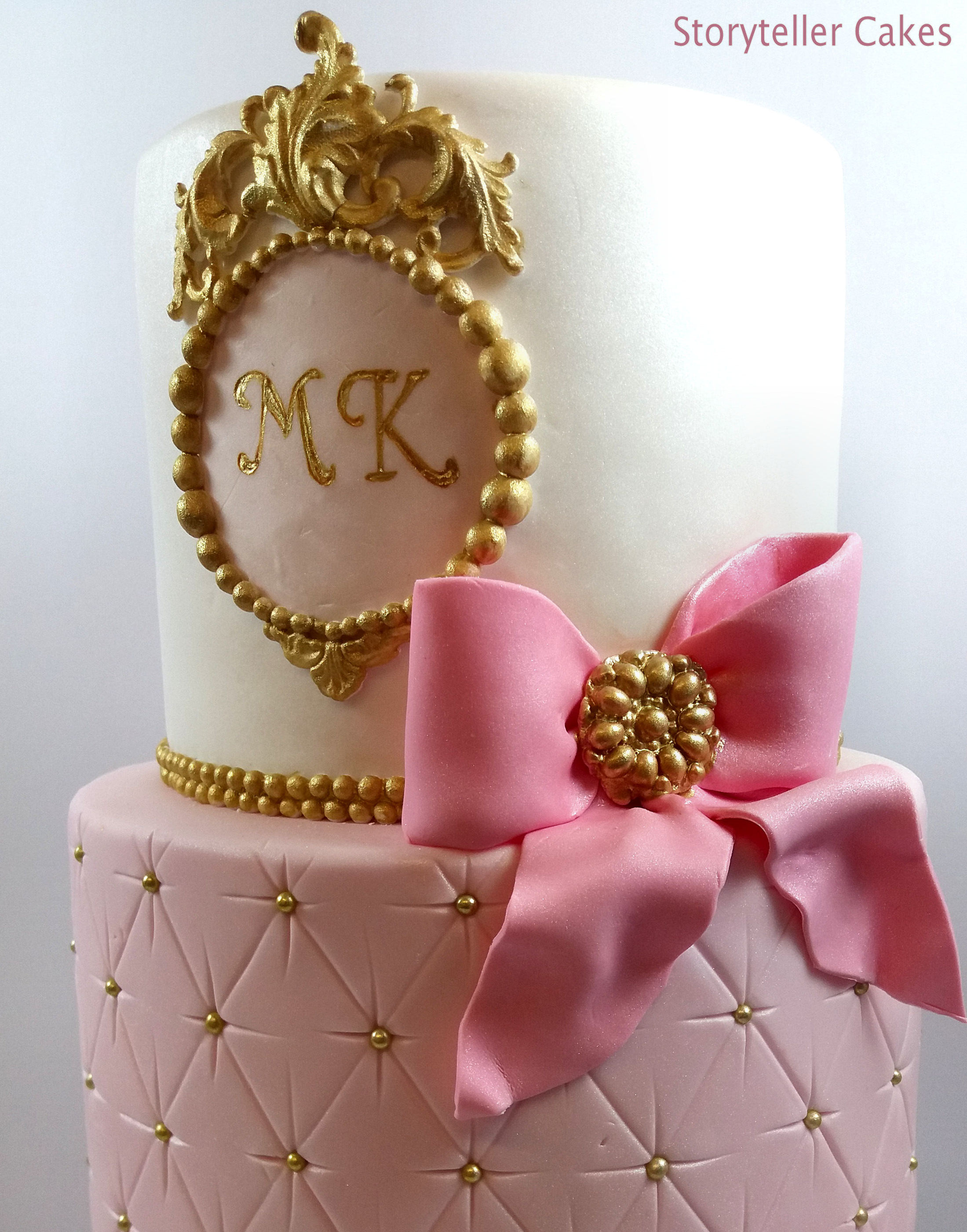 Pink & Gold Girls Birthday Cake 1.jpg