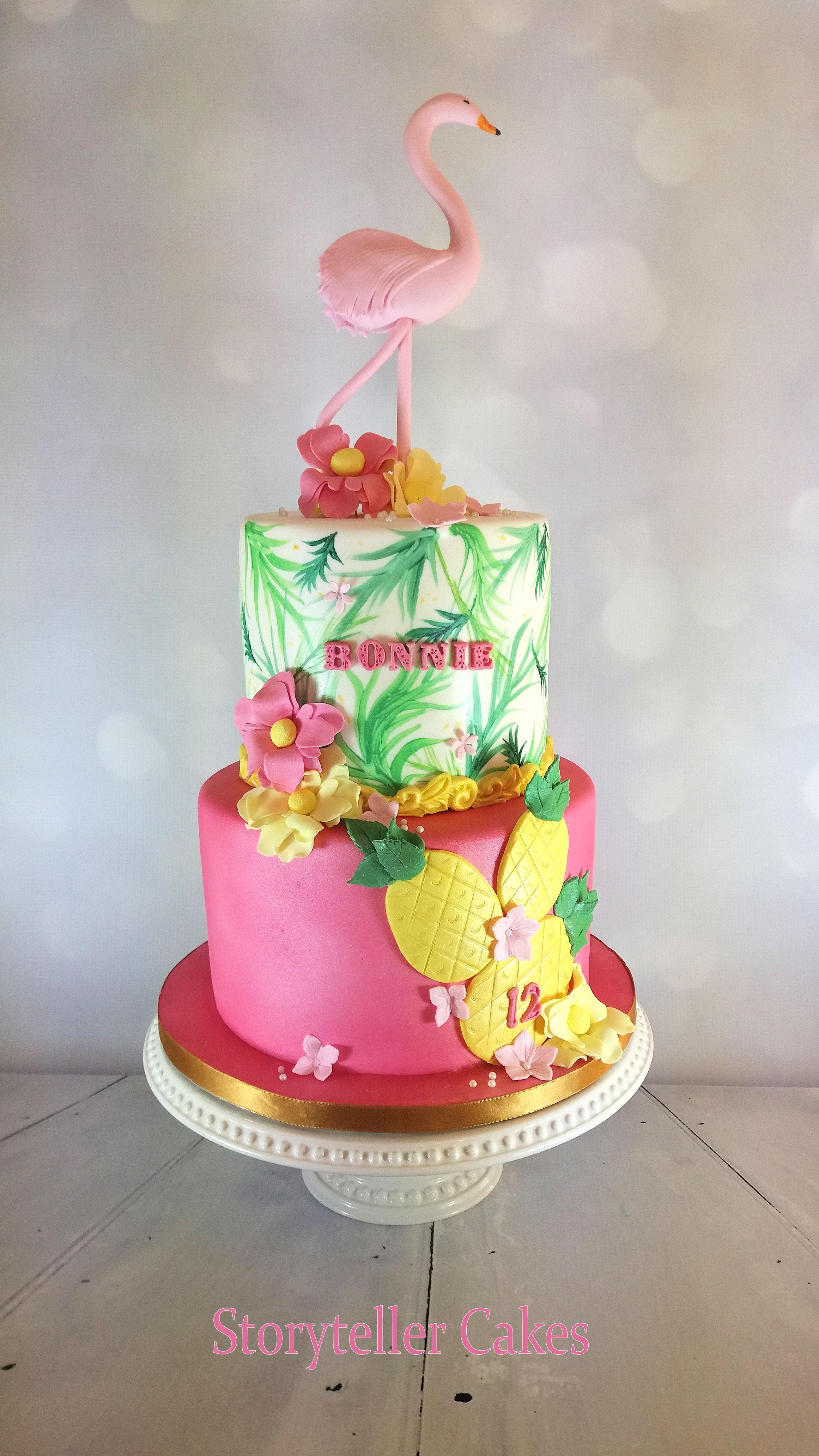 Flamingo Girls Birthday Cake 1.jpg