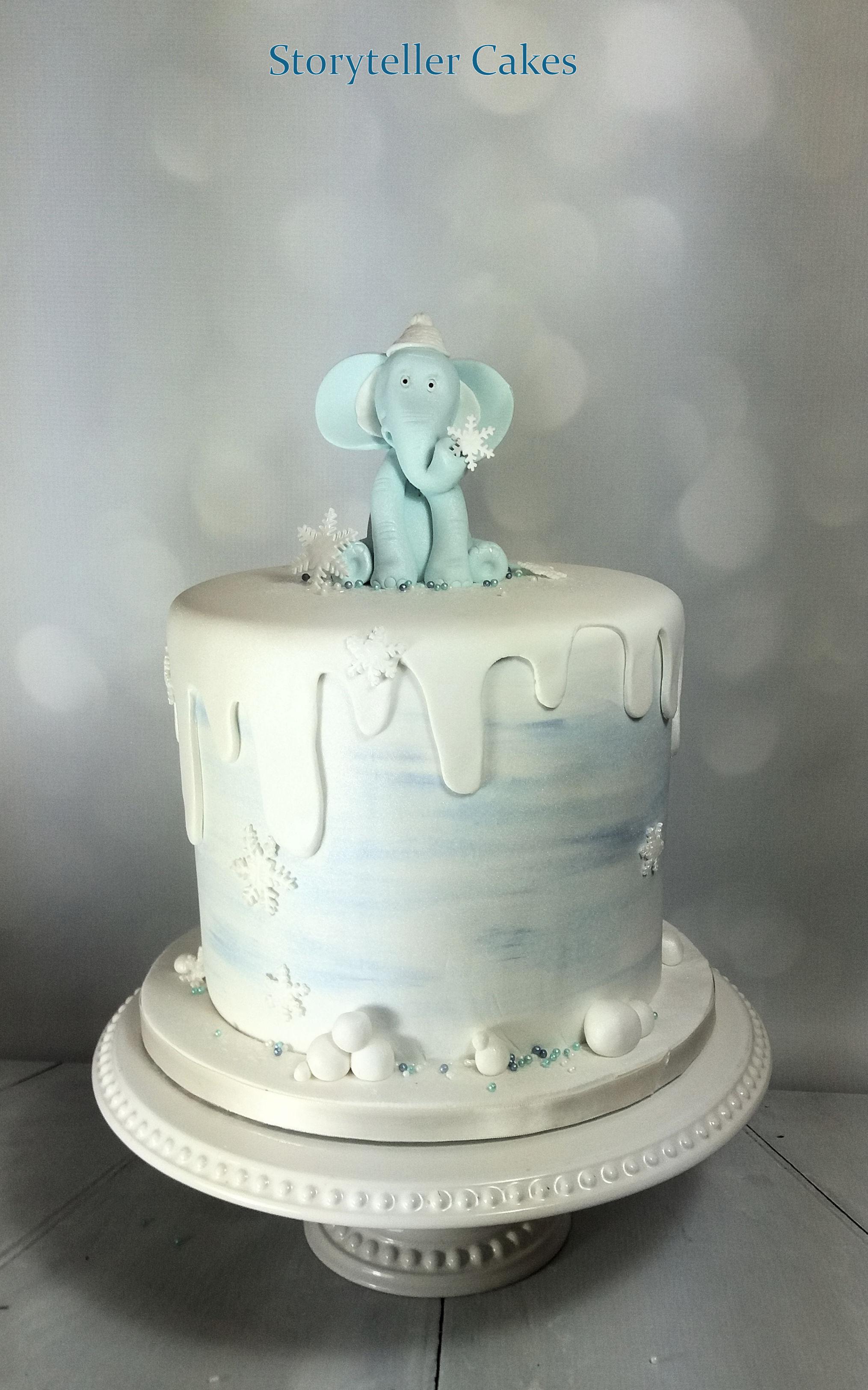 elephant baby shower christening 1st birthday cake 2.jpg