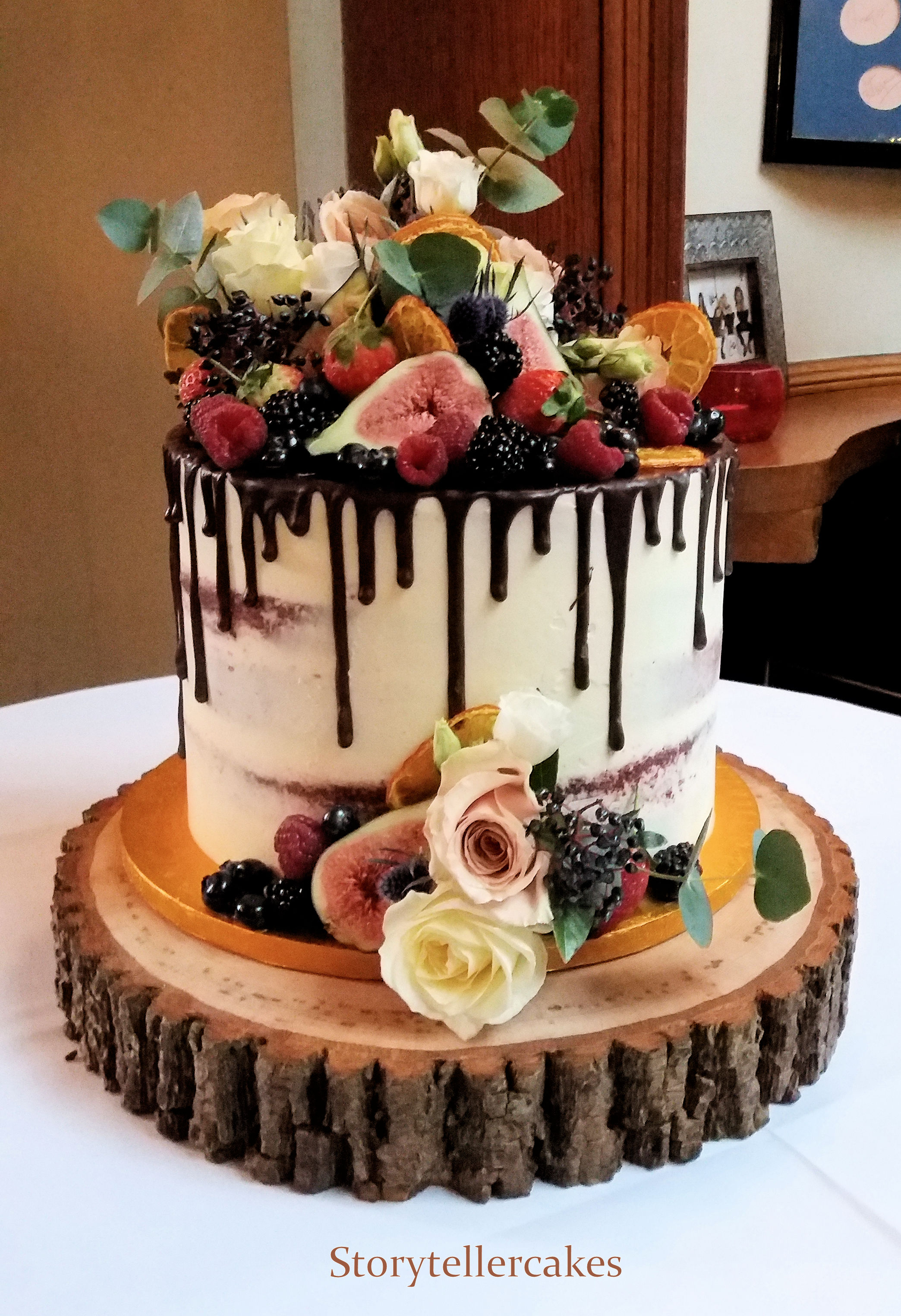 Chocolate Drip & Fruit Wedding Cake.jpg