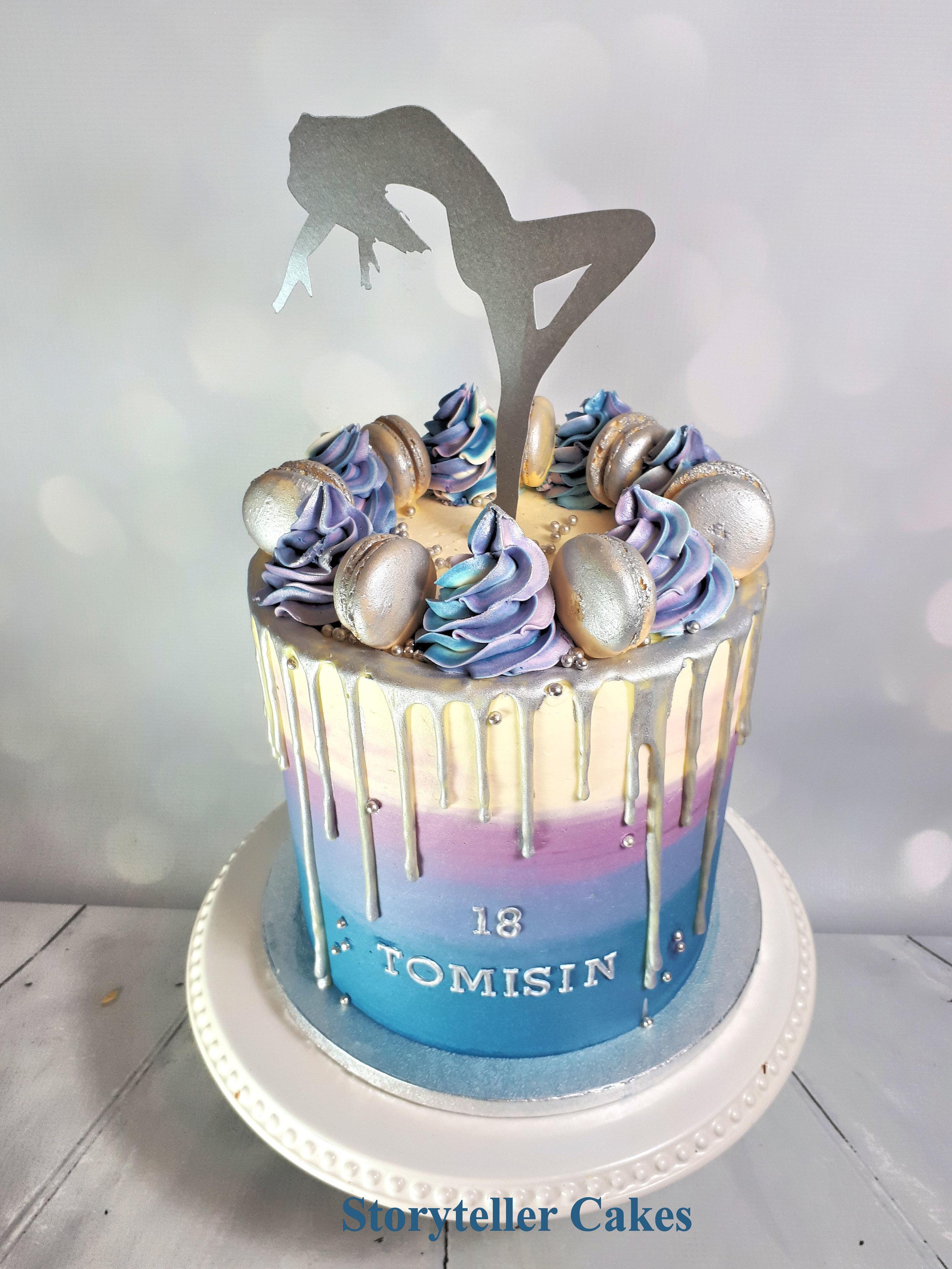 Dancer Buttercream 18th Birthday Cake 2.jpg
