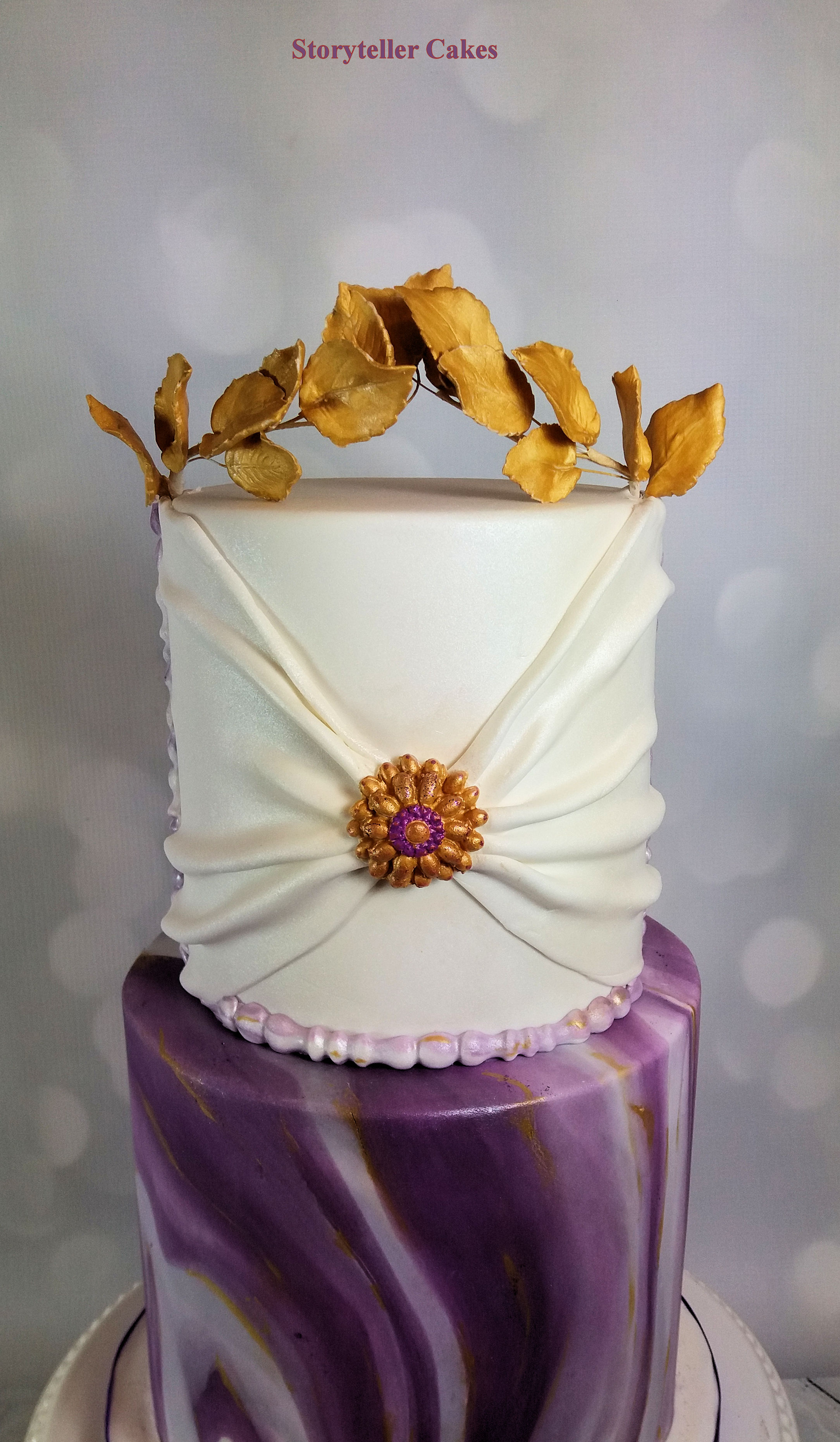 Purple and gold marble grecian cake 3.jpg
