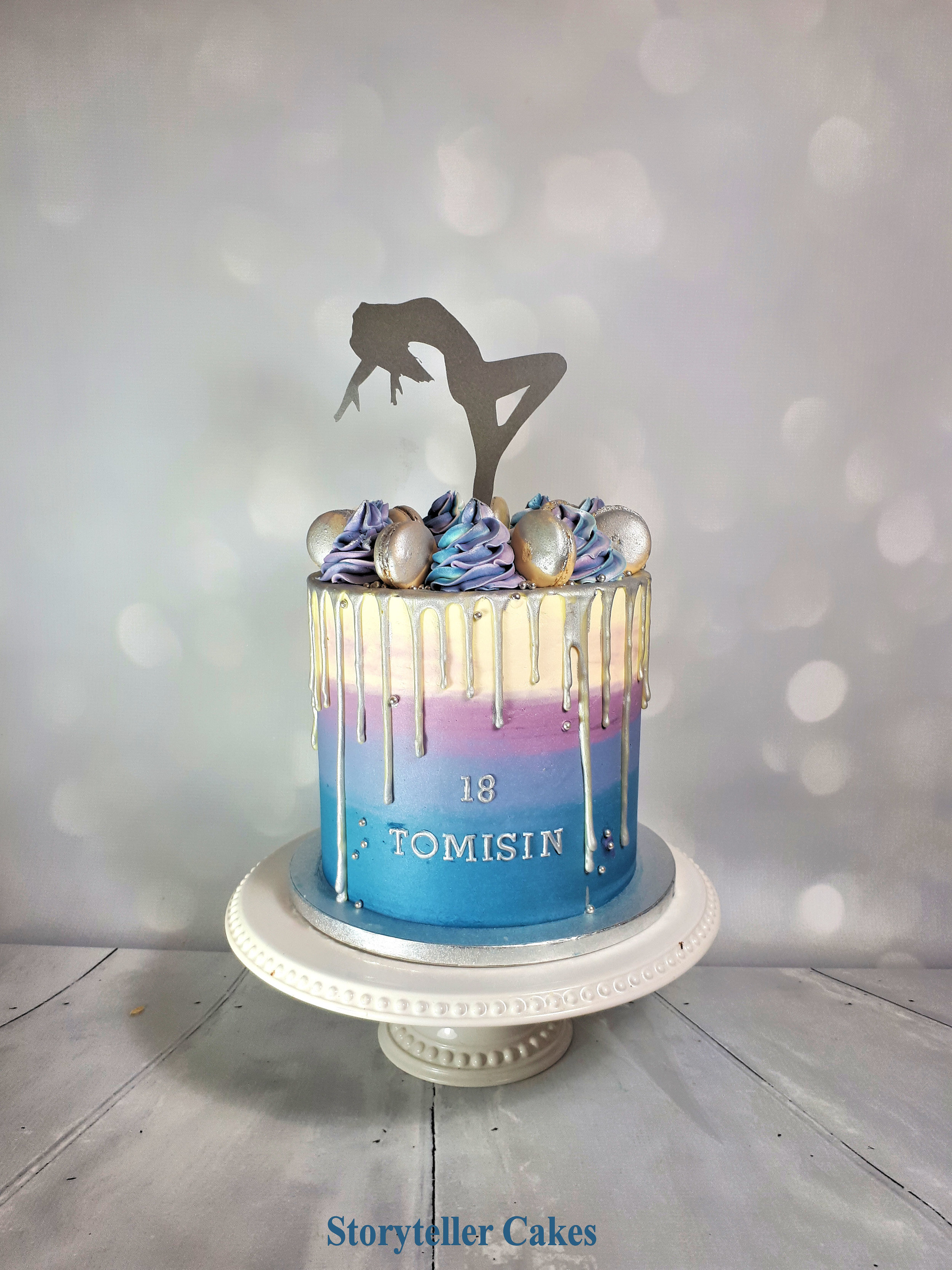 Dancer Buttercream 18th Birthday Cake .jpg