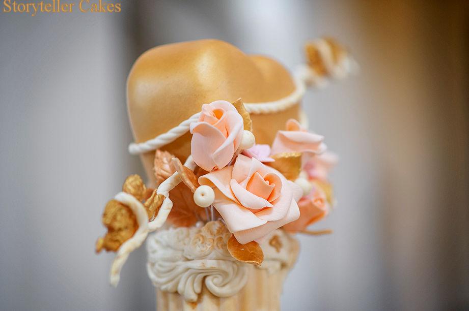 Cherub Floral grecian wedding cake 3.jpg