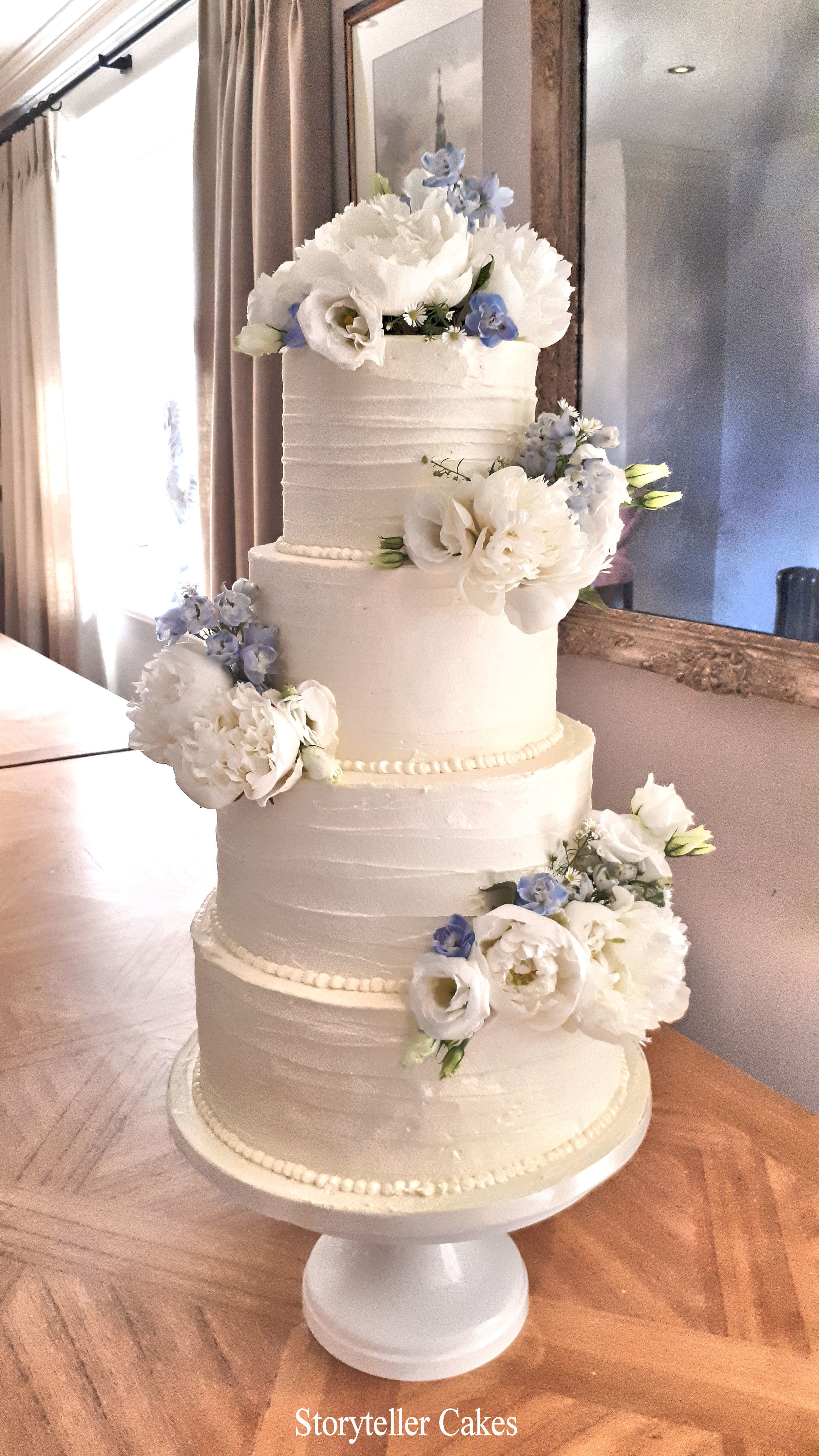 Beautiful Buttercream Ruffle and peony wedding cake3.jpg