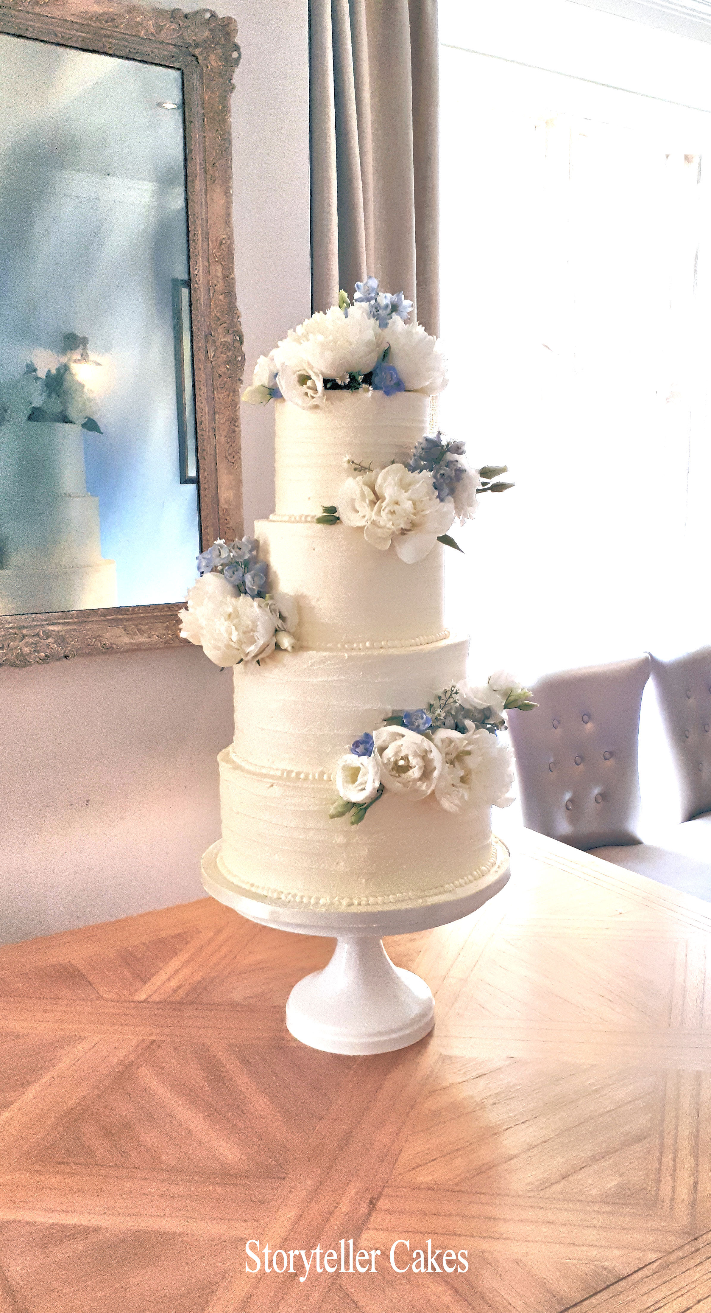 Beautiful Buttercream Ruffle and peony wedding cake.jpg