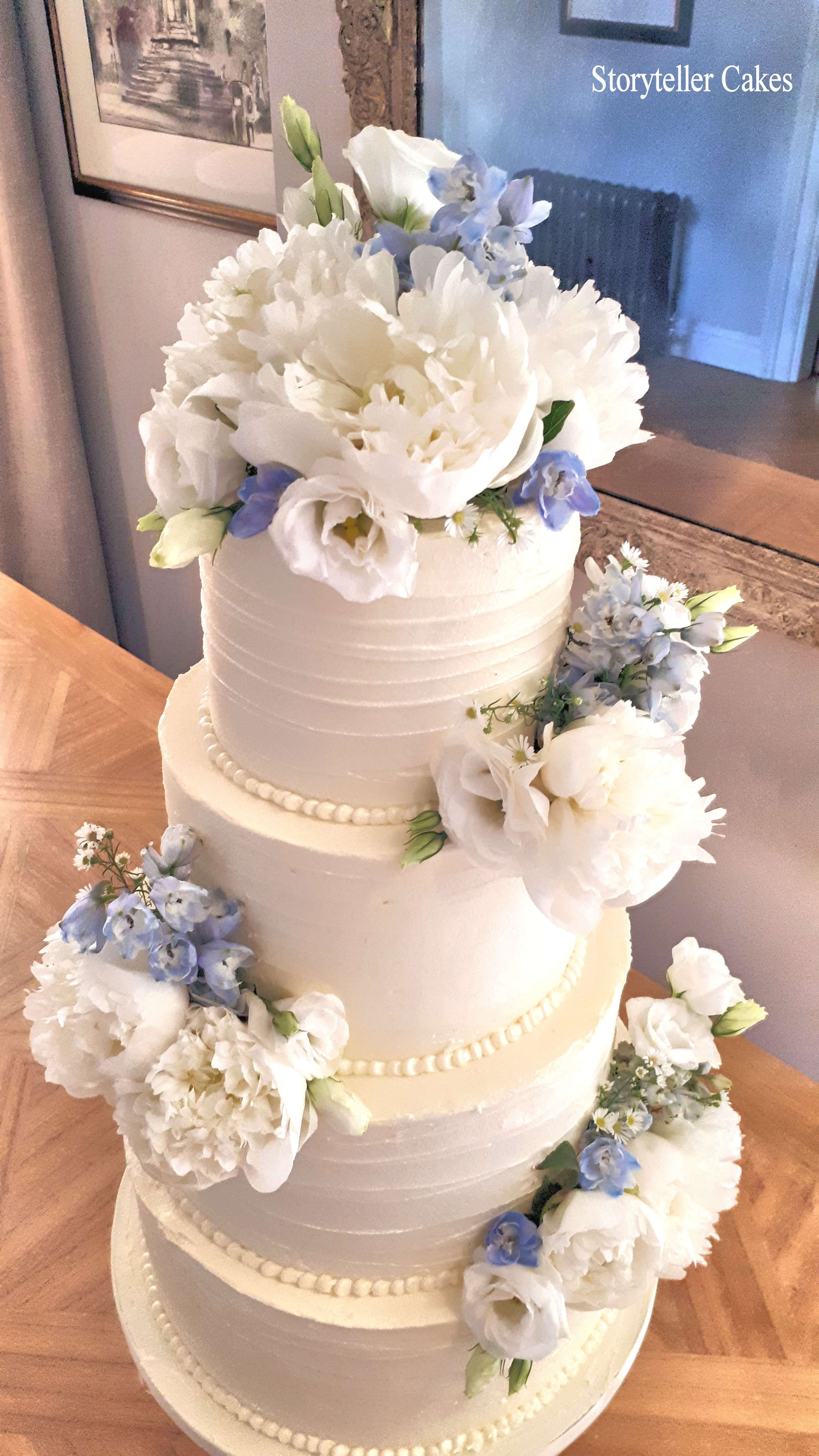 Beautiful Buttercream Ruffle and peony wedding cake4.jpg