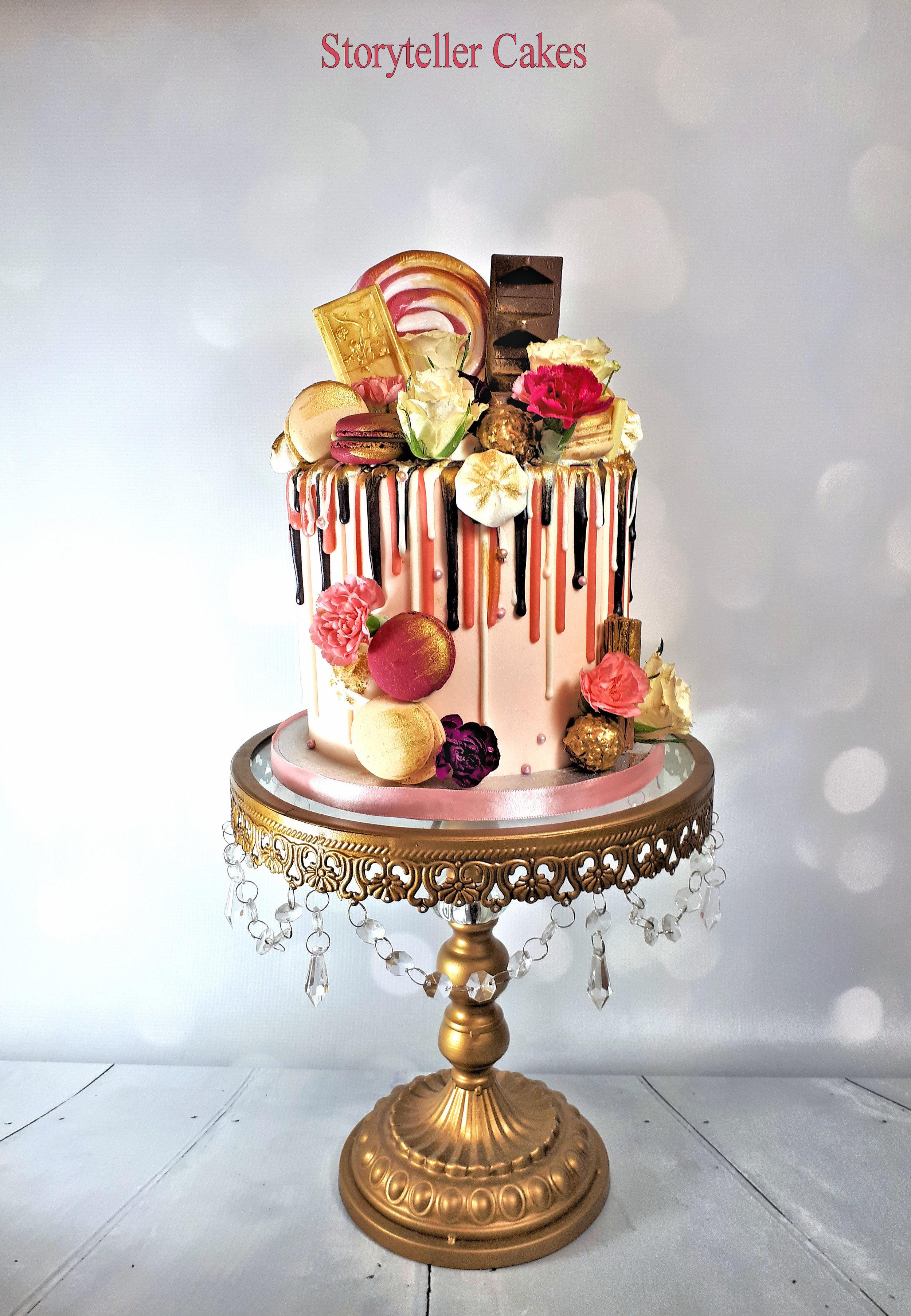 pink and gold drippy birthday cake.jpg