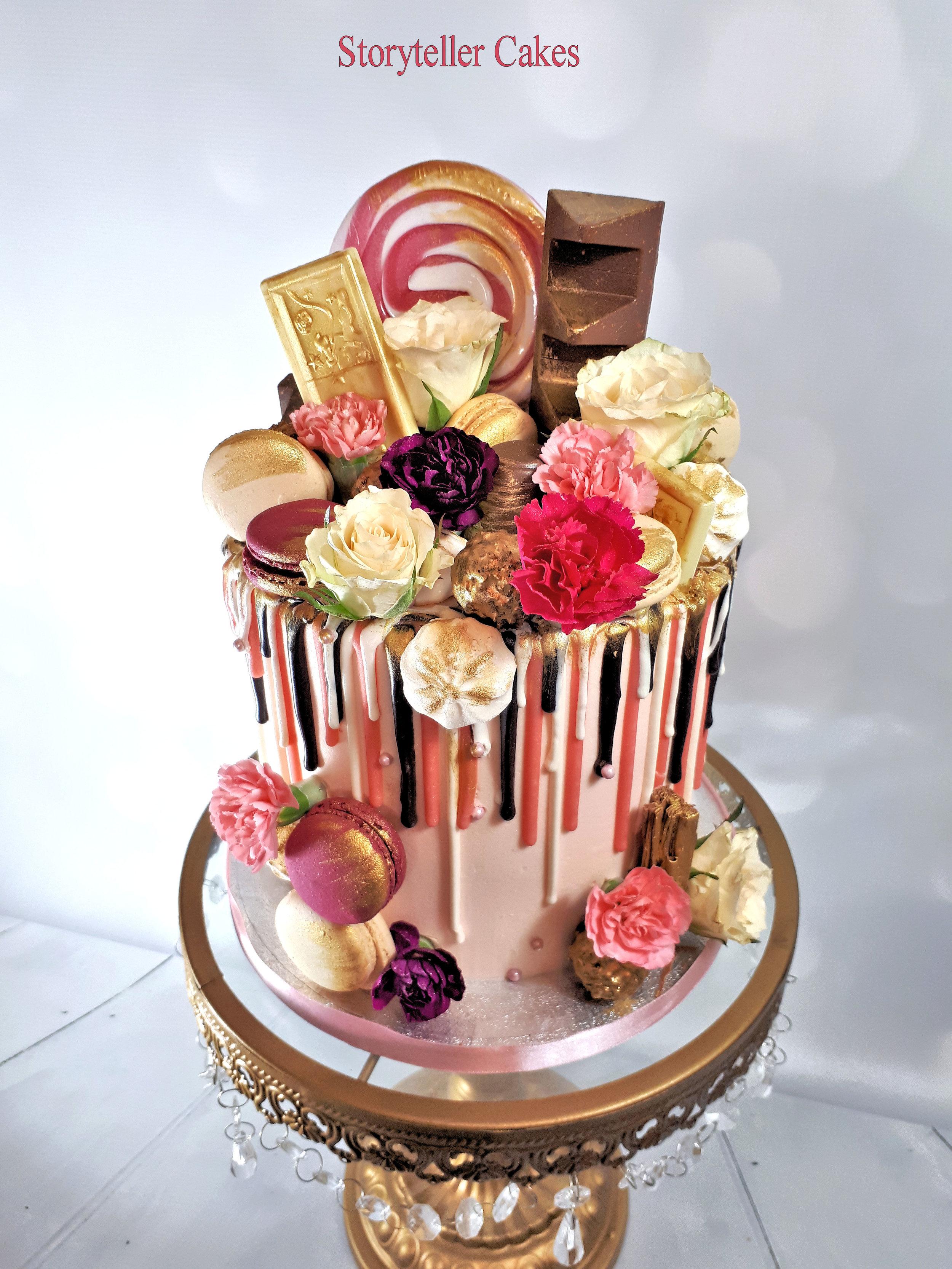 pink and gold drippy birthday cake2.jpg