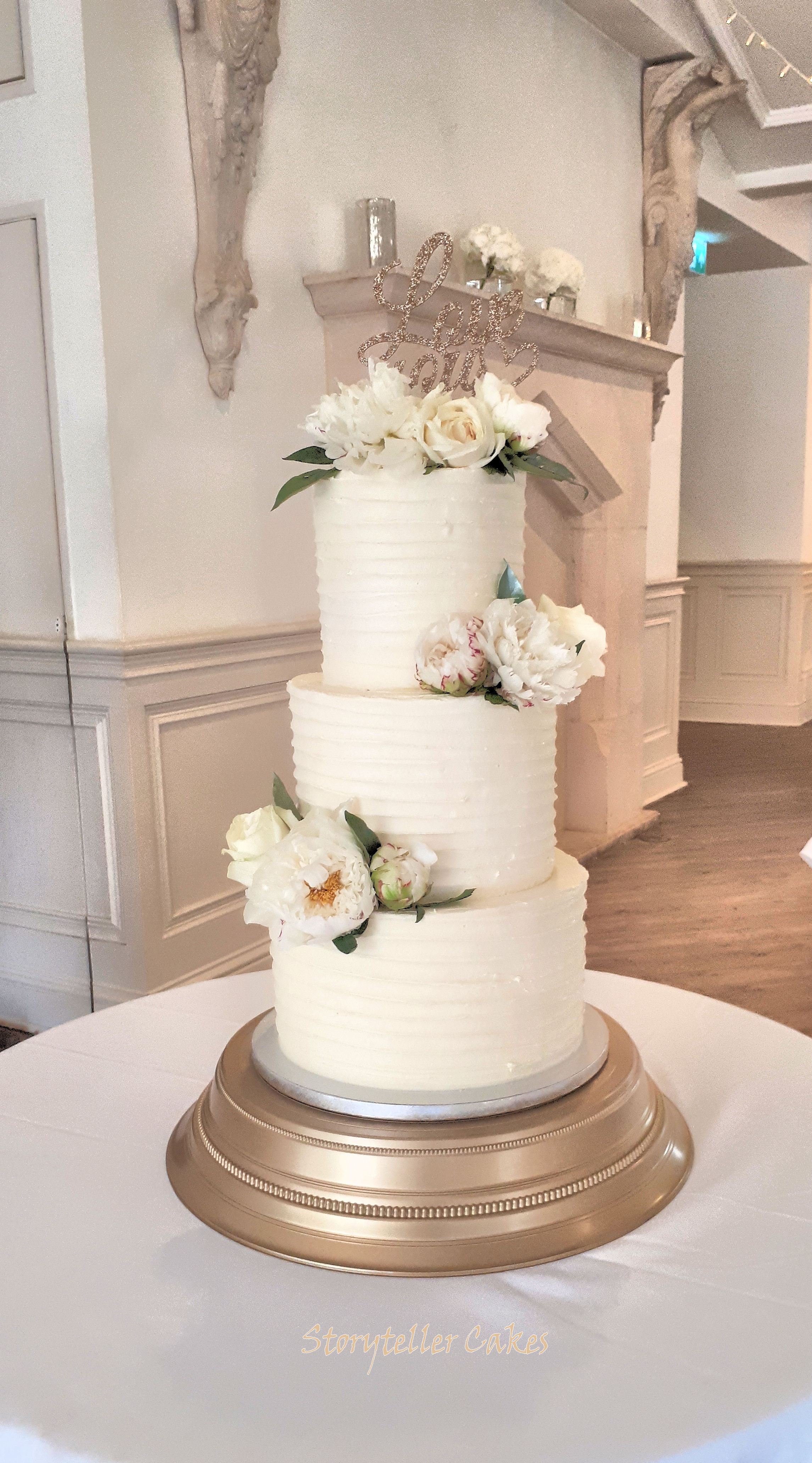 Buttercream Ruffle Wedding Cake With Fresh Peonies.jpg