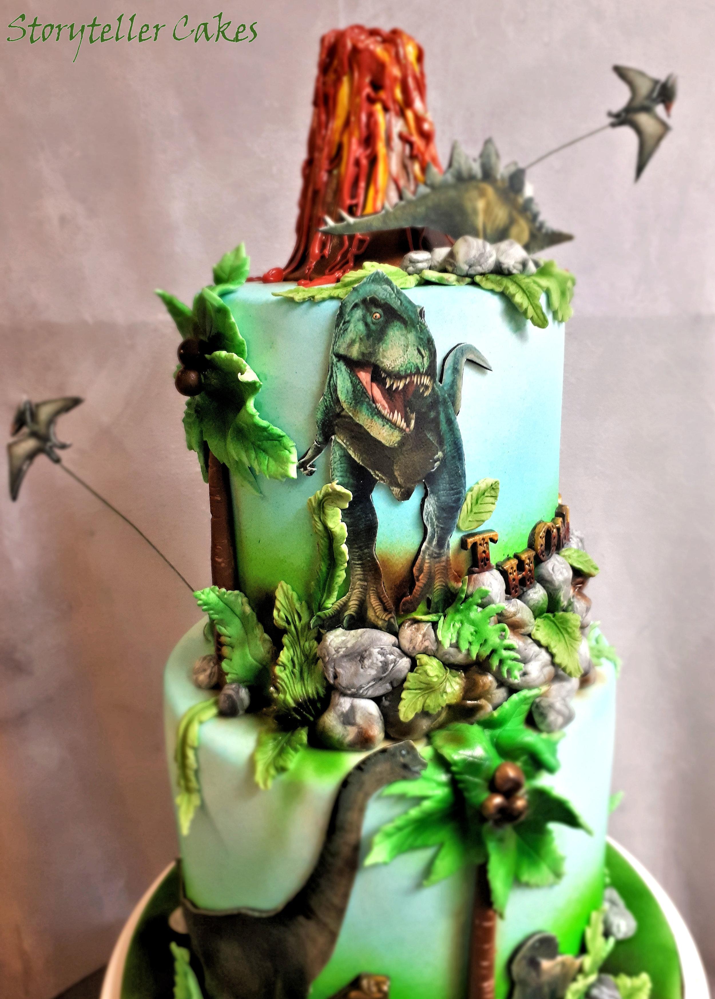 T-Rex Dinosaur Birthday Cake3.jpg