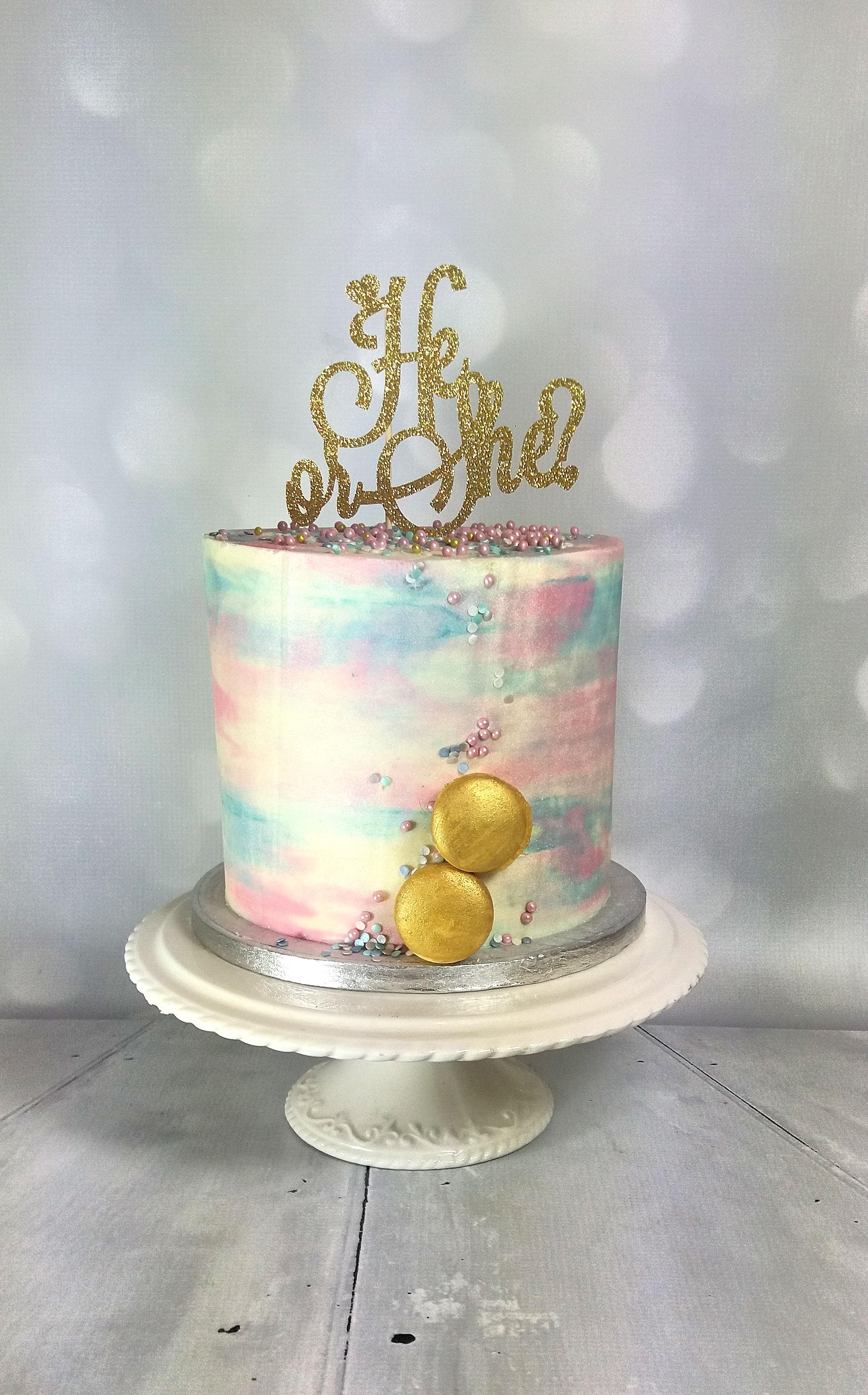 Gender Reveal Baby Shower Buttercream Cake.jpg