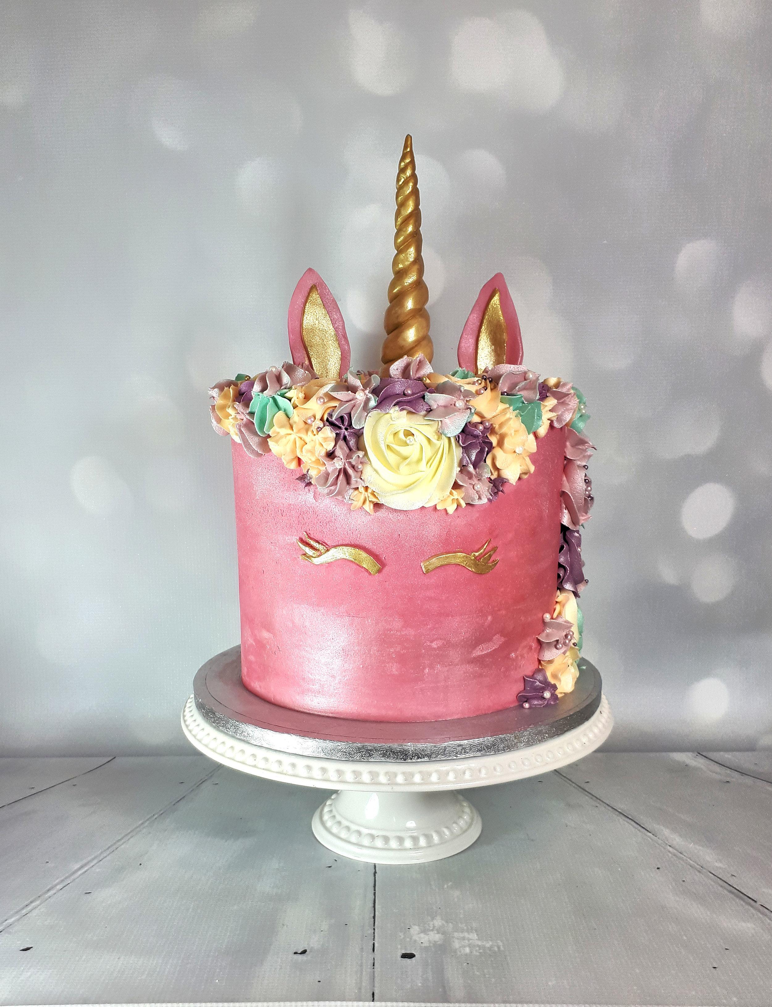 Pink Unicorn Buttercream Birthday Cake.jpg