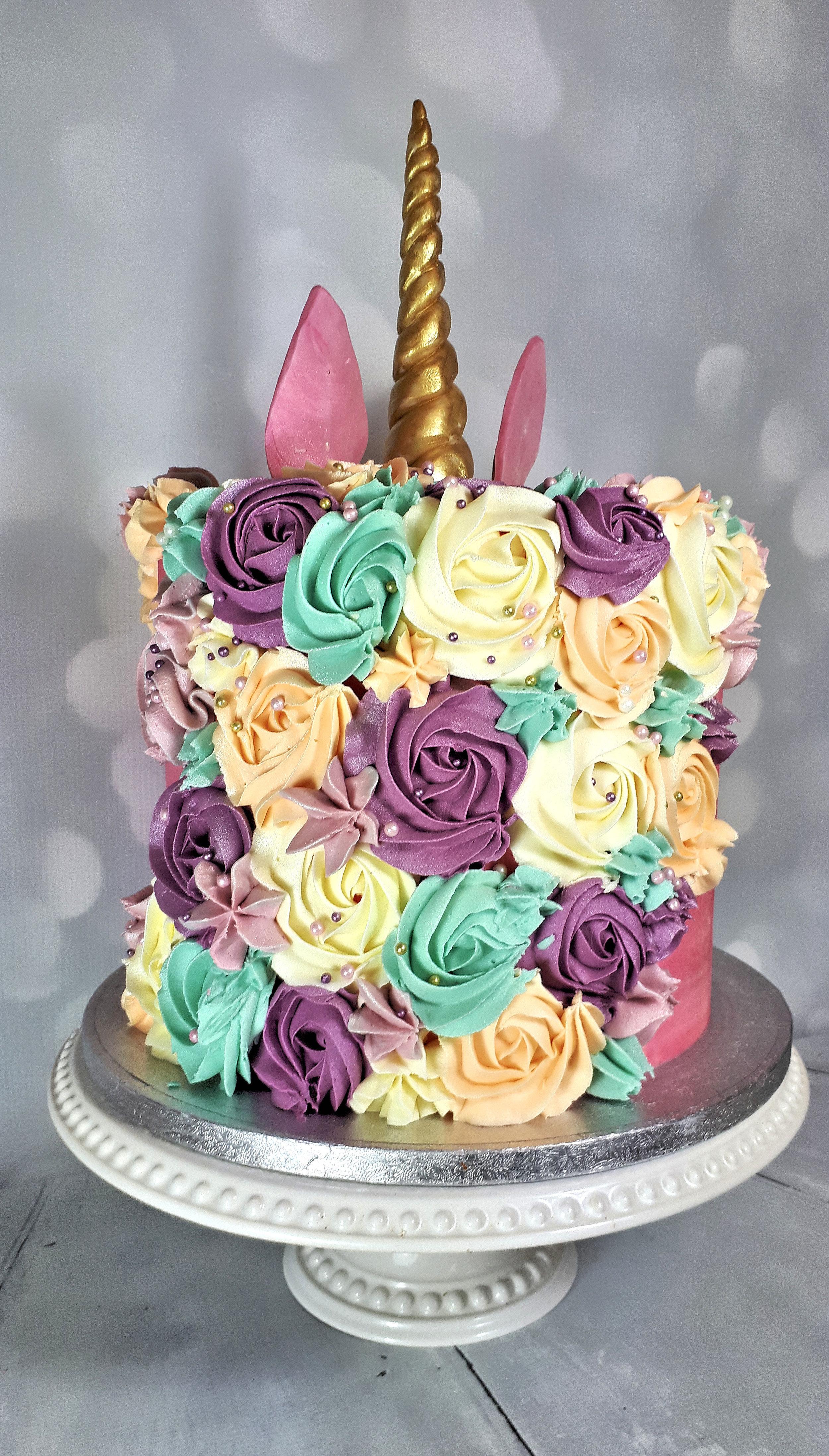 Pink Unicorn Buttercream Birthday Cake2.jpg