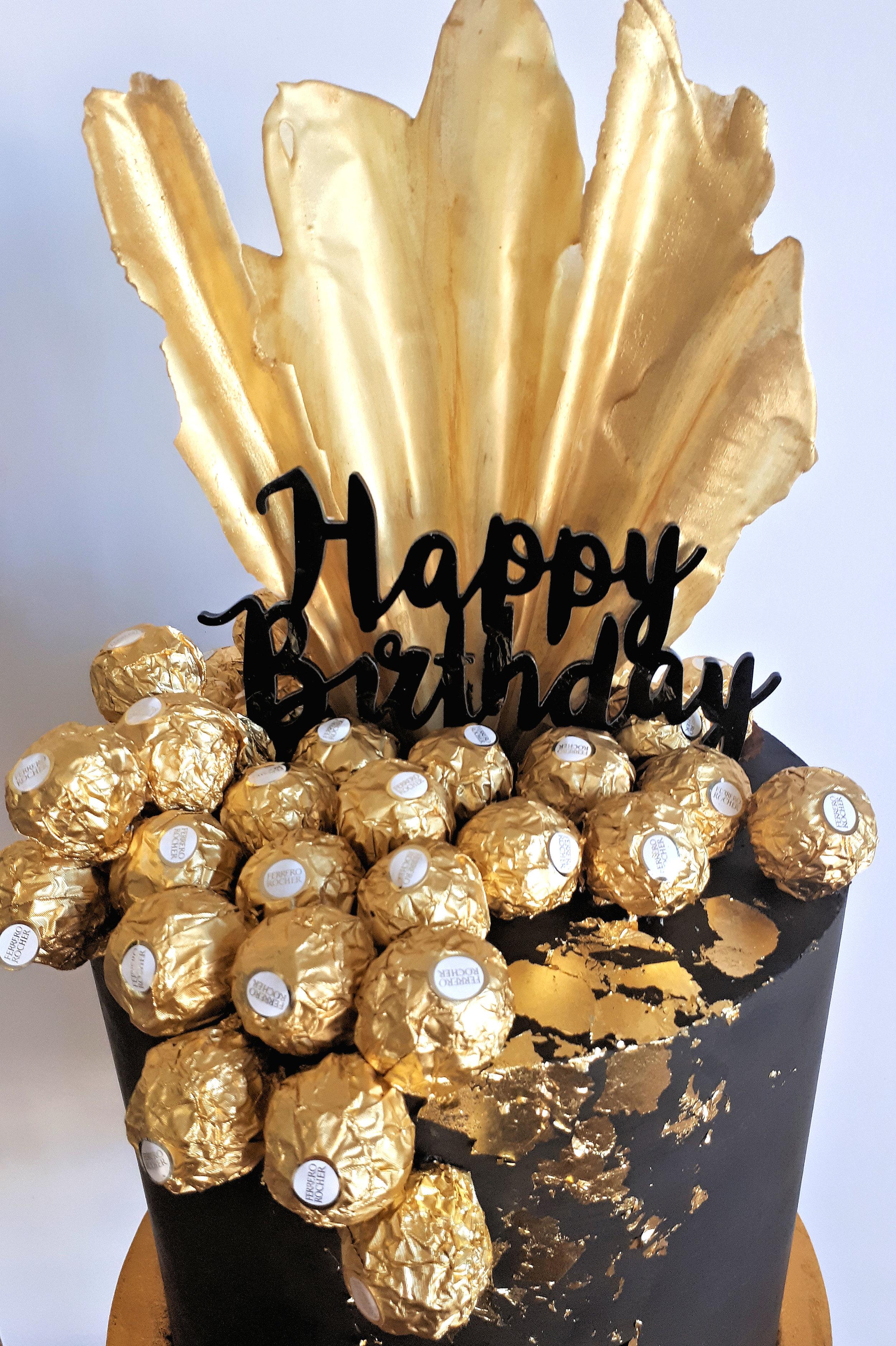 Black & Gold Ferrero Rocher Cake3.jpg