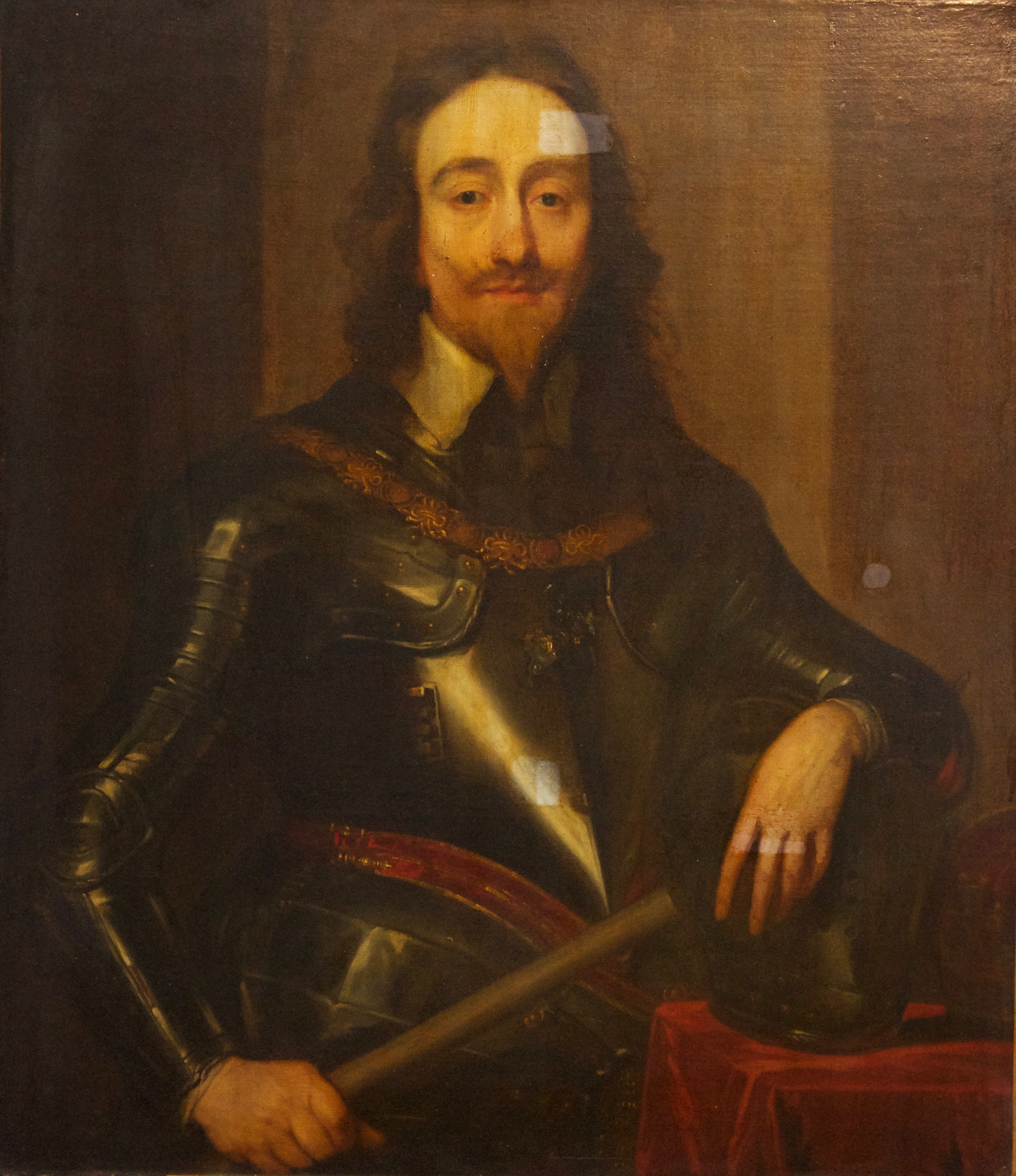 Portrait of King Charles - Before treatment