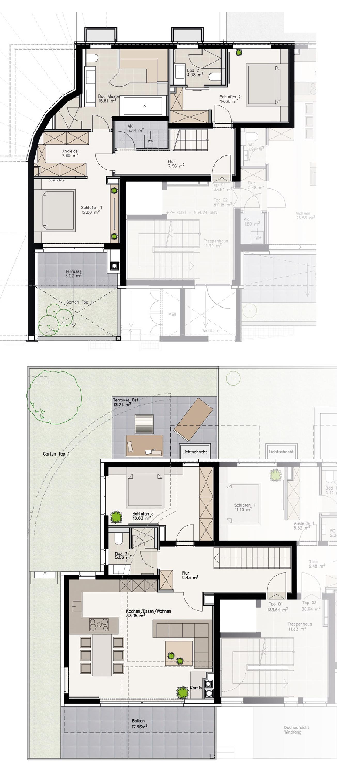 Erdgeschoss / 1. Obergeschoss