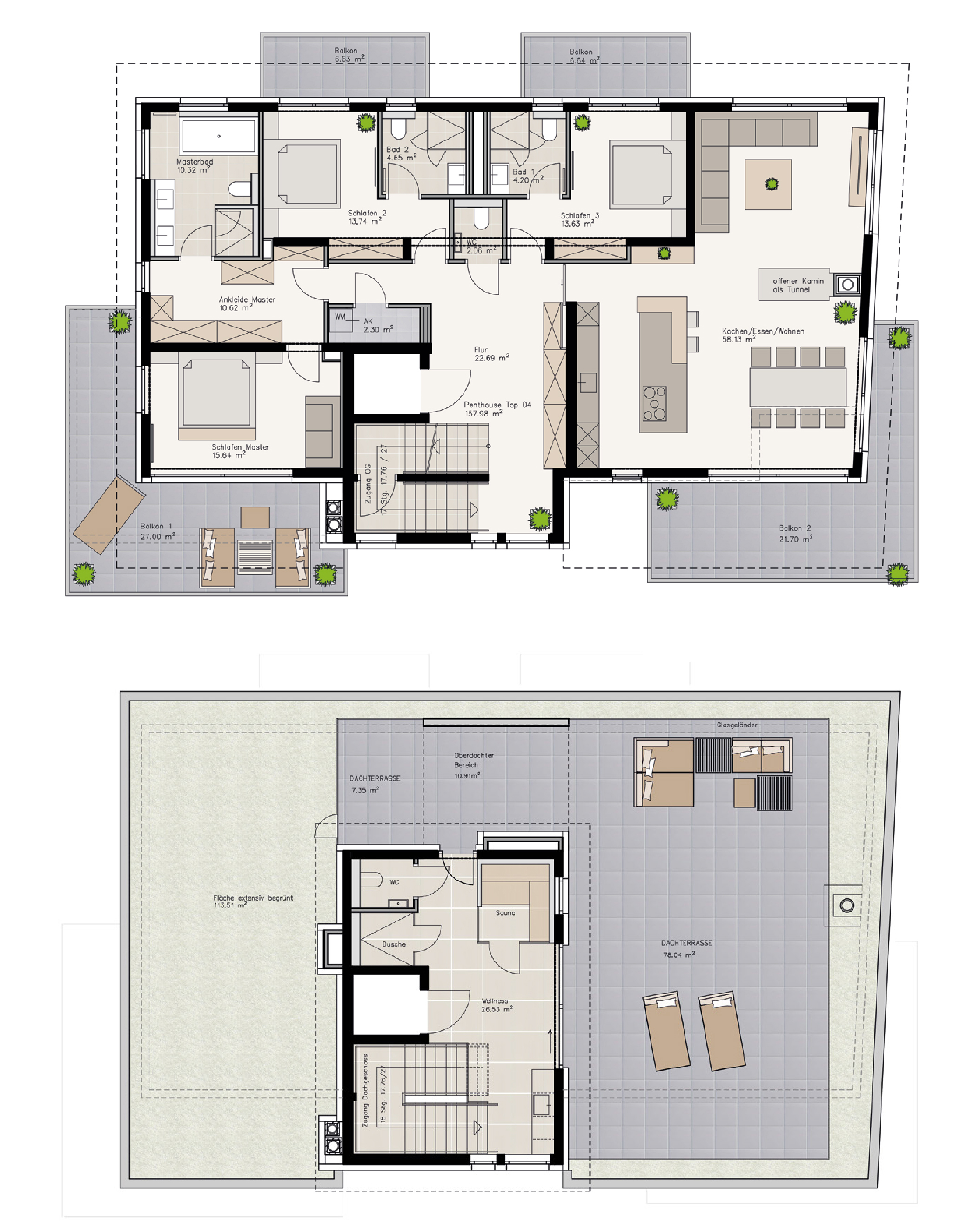 2. Obergeschoss / Dachgeschoss