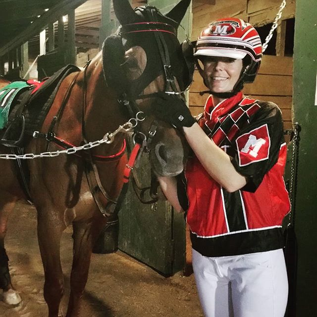 Sasha Moczulski with Hyway Marcus prior to their victory in the RUS MidAtlantic race at Ocean Downs on July 15, 2018.  (Photo Credit - Clarissa Coughlin)