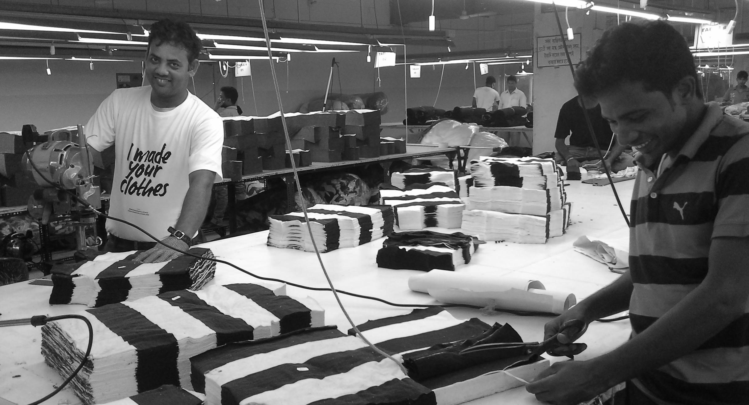 Cutting the fabric