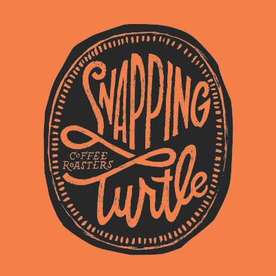 Logo with orange background.