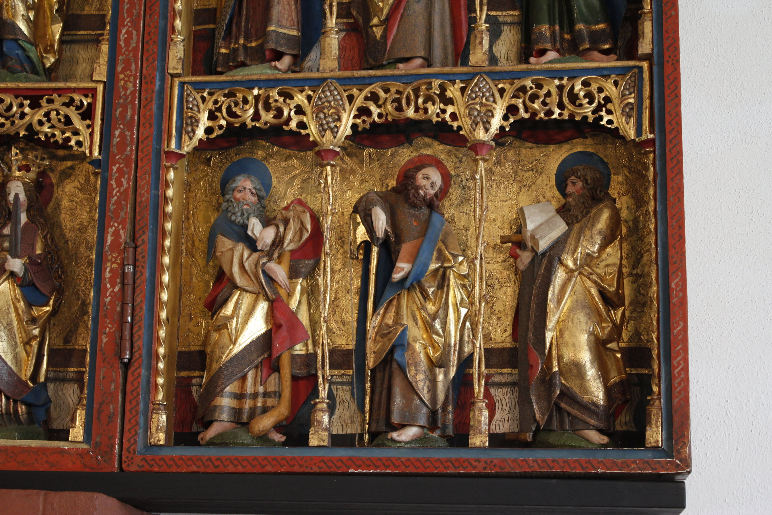 Detail from the altarpiece in the Cathedral, dating back from the early 16th Century.