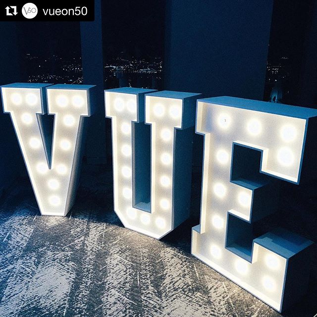 The best VUE in Philly!  #Repost @vueon50 ・・・ Could get used to seeing our name up in lights! ✨  #vueon50 #vueon50events #philadelphiaevents #phillyvenues