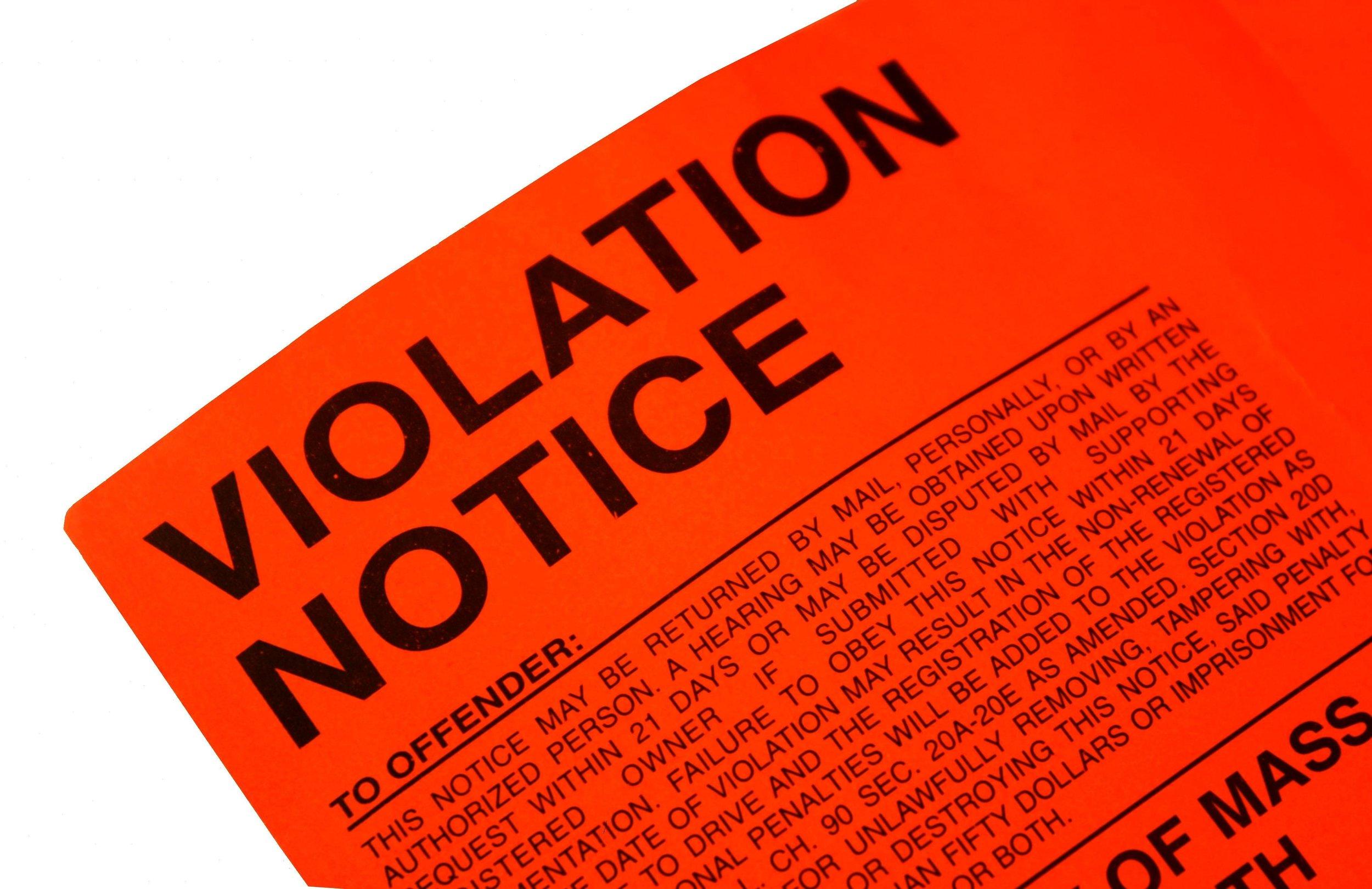 Plumbing violation corrections -