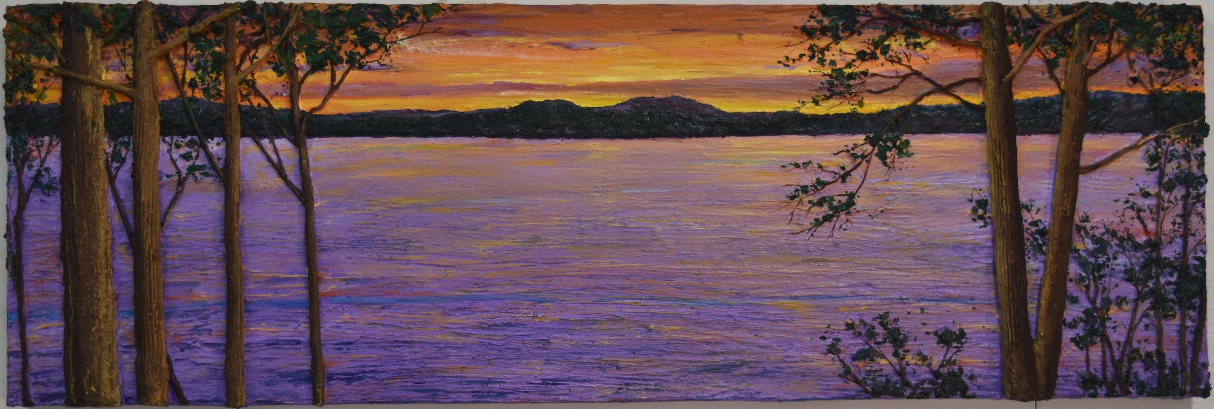Wonderful Sunset at the Lake
