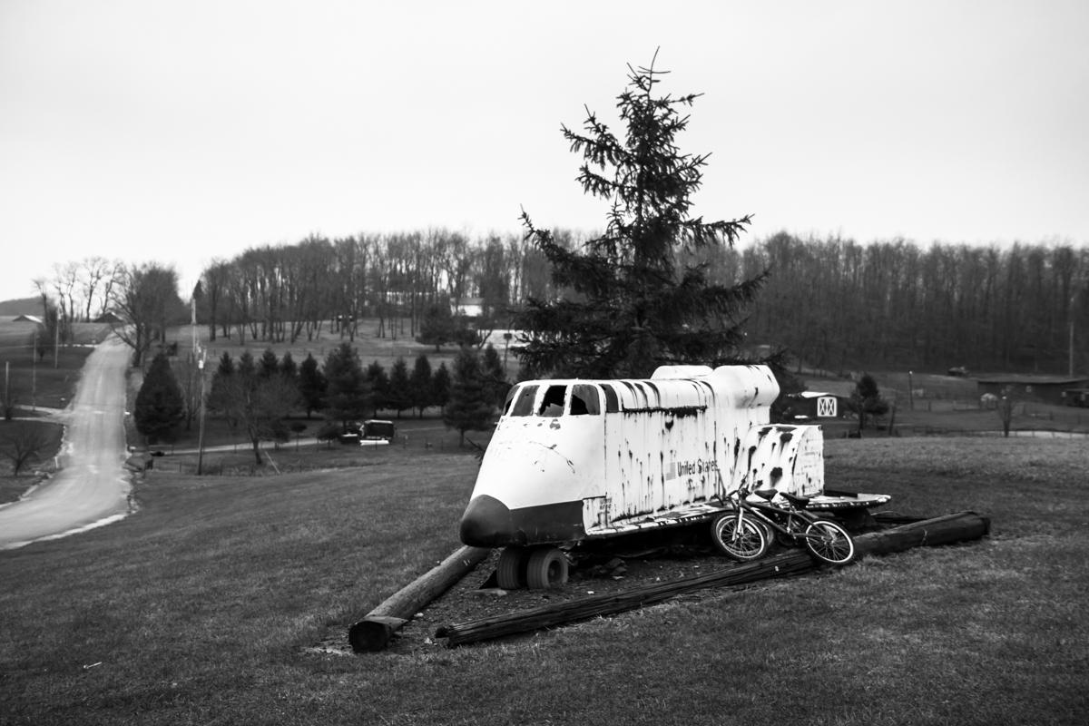 Folk Art Space Shuttle Tractor - Greensburg, Pennsylvania - 2011