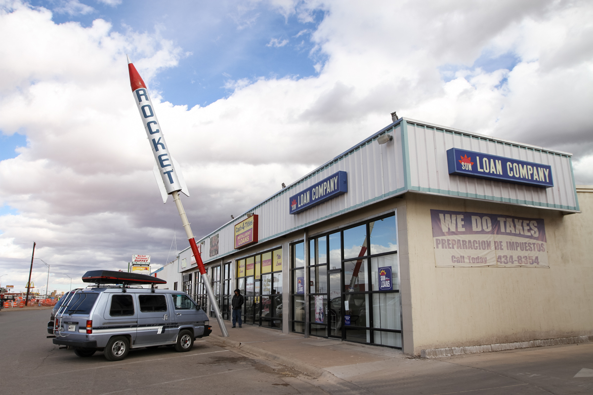 Rocket Storefront Signage - Alamogordo, New Mexico - 2013