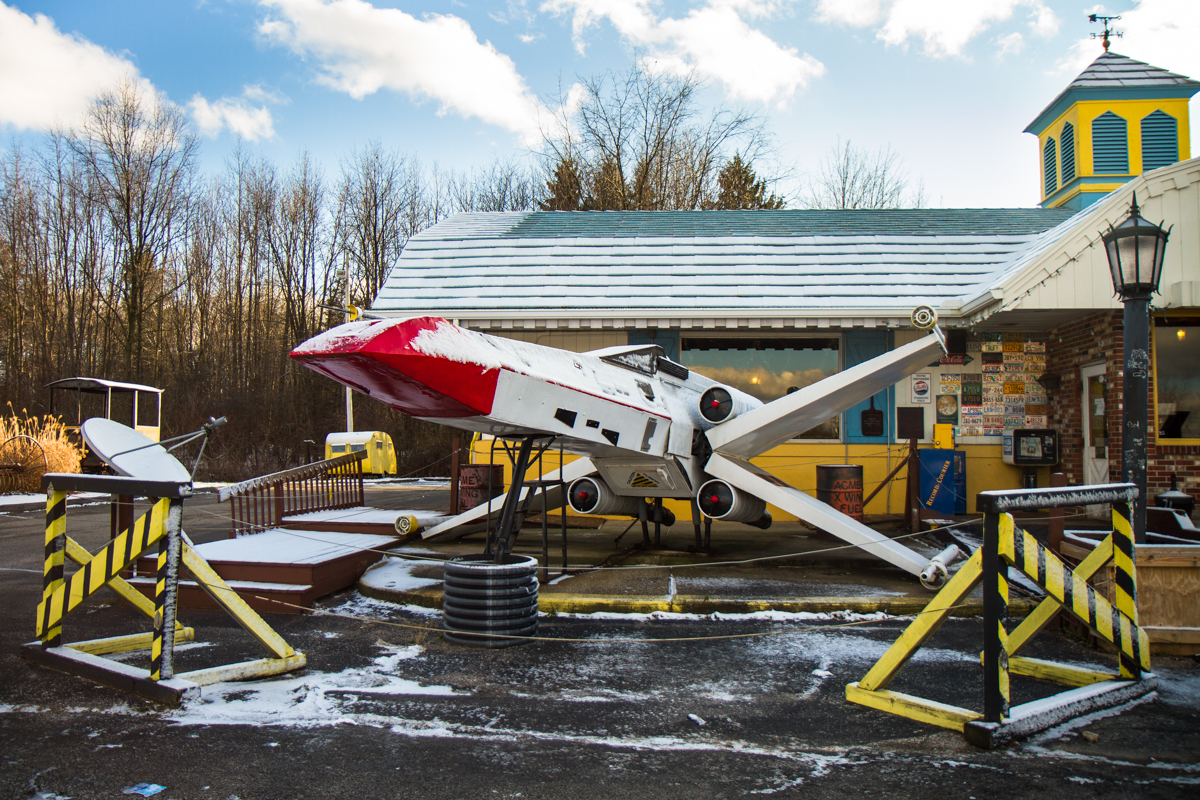 Homemade Star Wars X-Wing Fighter - Kent, Ohio - 2011