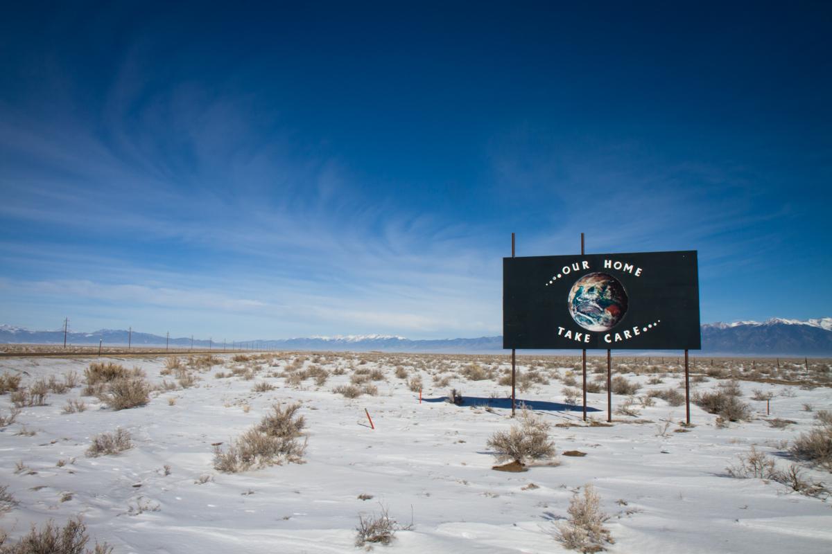 Folk Art Billboard for the Cosmic Highway - Hooper, Colorado - 2012