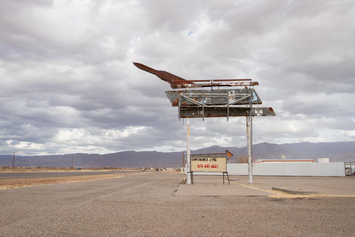 Abandoned Rocket Motel Sign - Alamogordo, New Mexico - 2013