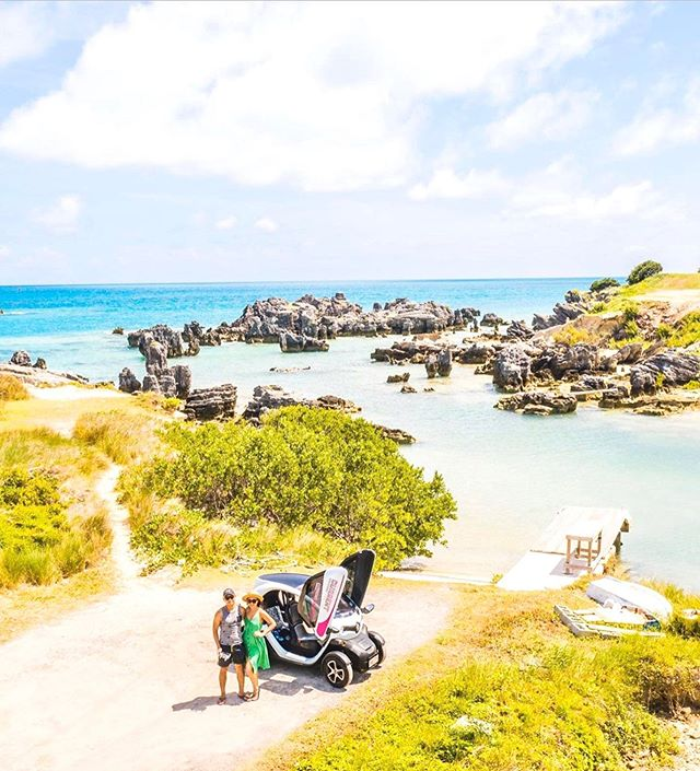 Its adventure time! Get off the beaten track. • Find the best that Bermuda has to offer using our app: Current Vehicles - Bermuda in the iOS App Store now. • 📷: @its.justine.p . . . . . #movedbycurrent #bermuda #islandlife #twizy #renaulttwizy #renault #mybermuda #zeroemissions #electricvehicles #ev #ecotourism #beachlife #travel #microtourism #createyourownadventure #explore #adventure