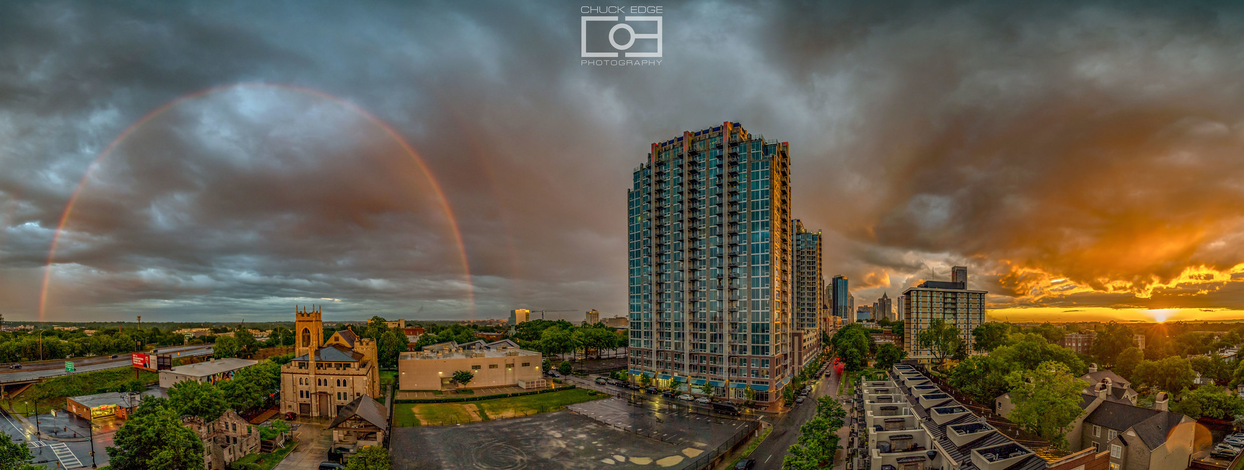 Rainbow sunset. Charlotte, NC. May 5, 2019